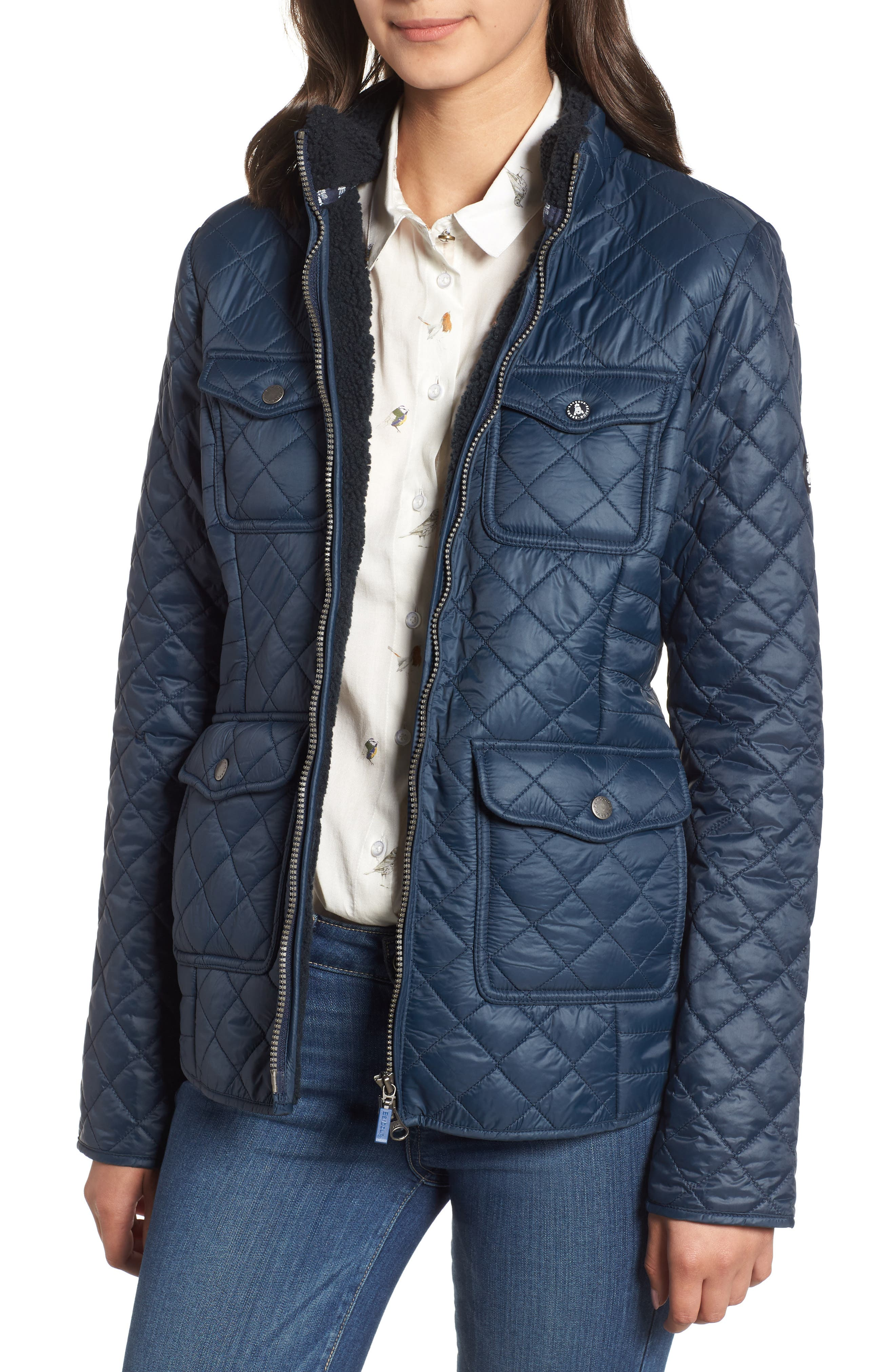 Barbour Weymouth Quilted Jacket, US / 8 UK - Blue