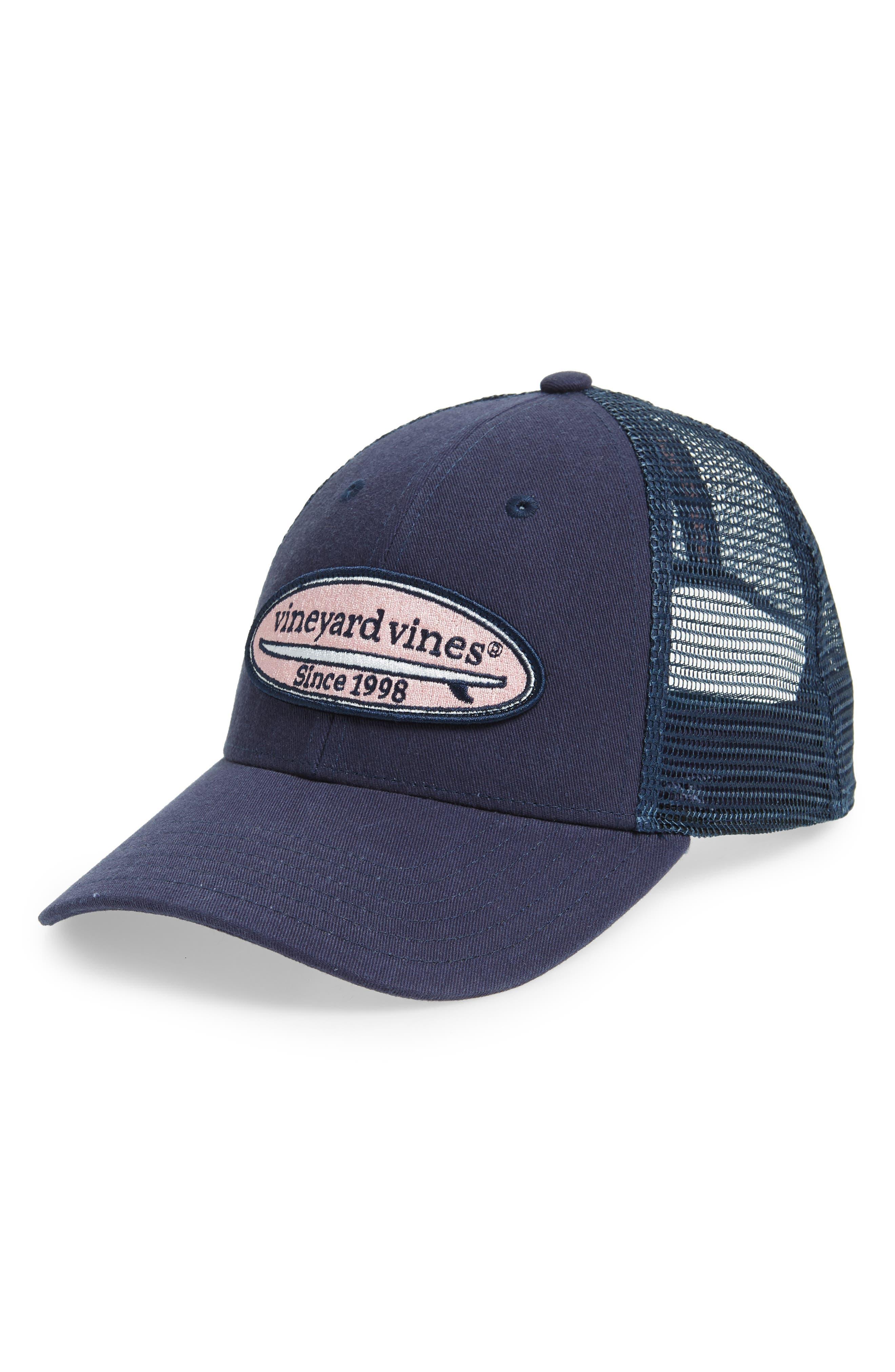 Surf Patch Trucker Hat,                             Main thumbnail 1, color,                             VINEYARD NAVY