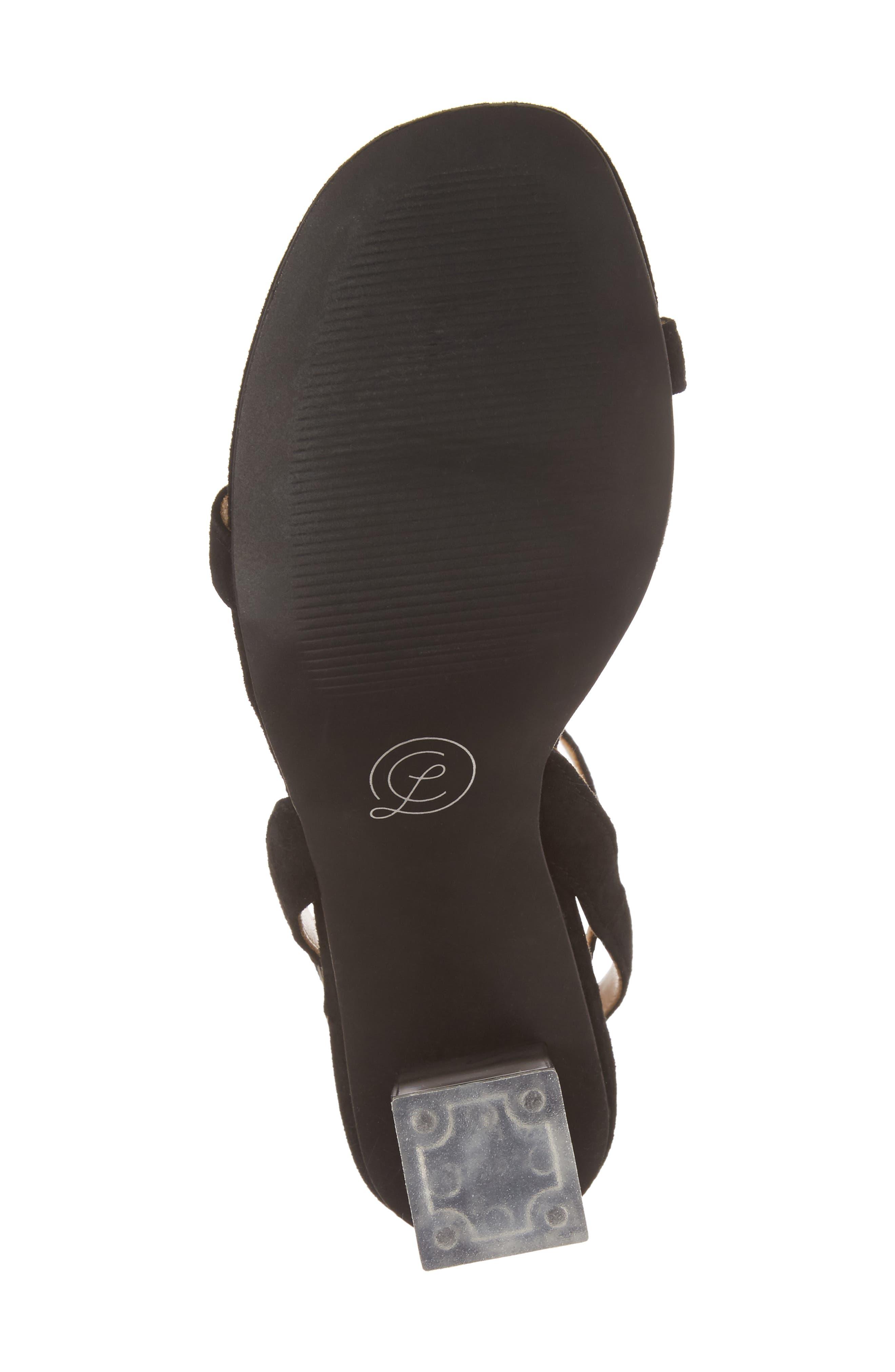 Shanie Clear Heel Sandal,                             Alternate thumbnail 6, color,                             001