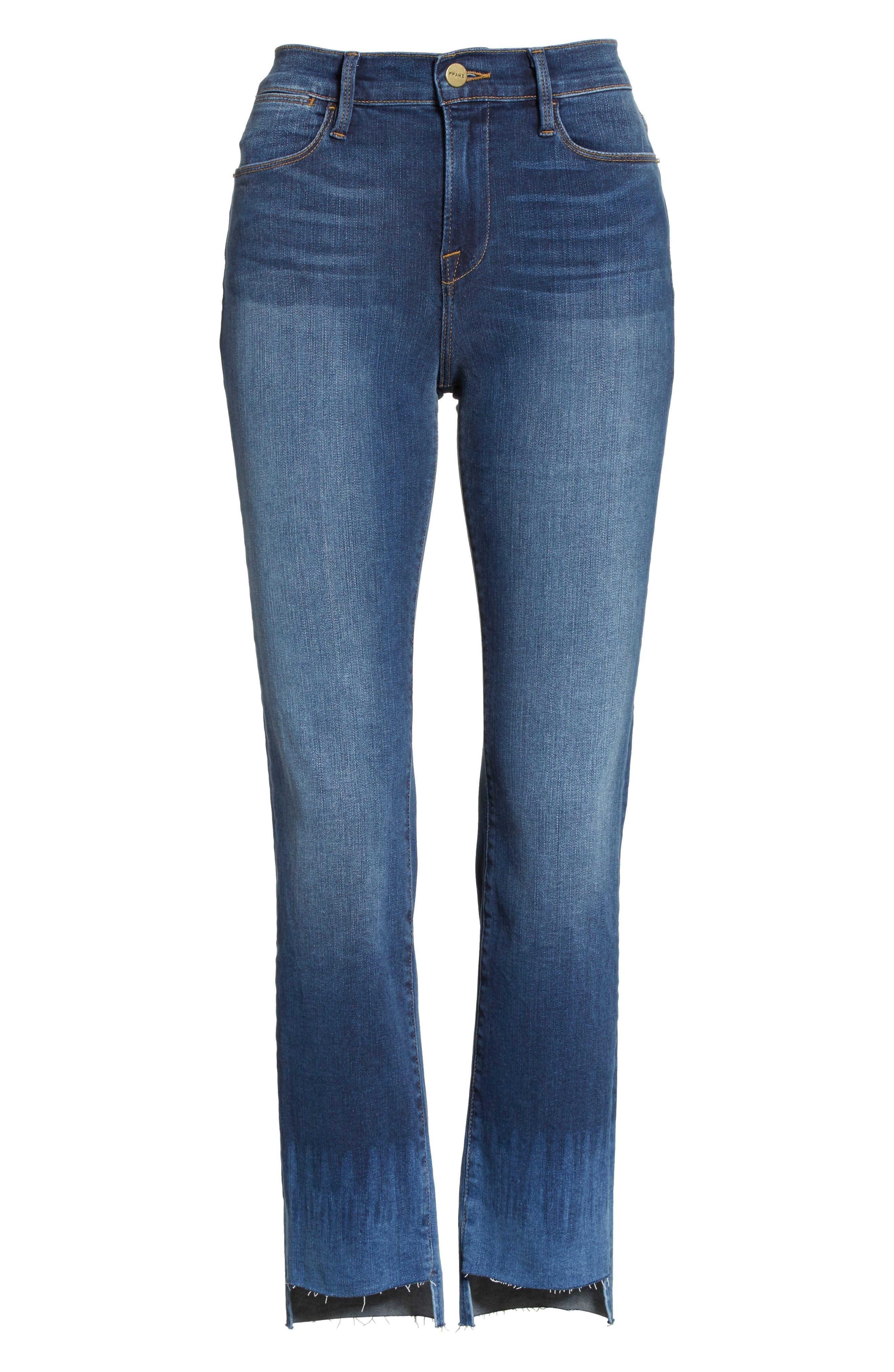 Le High Crop Straight Leg Jeans,                             Alternate thumbnail 6, color,                             420