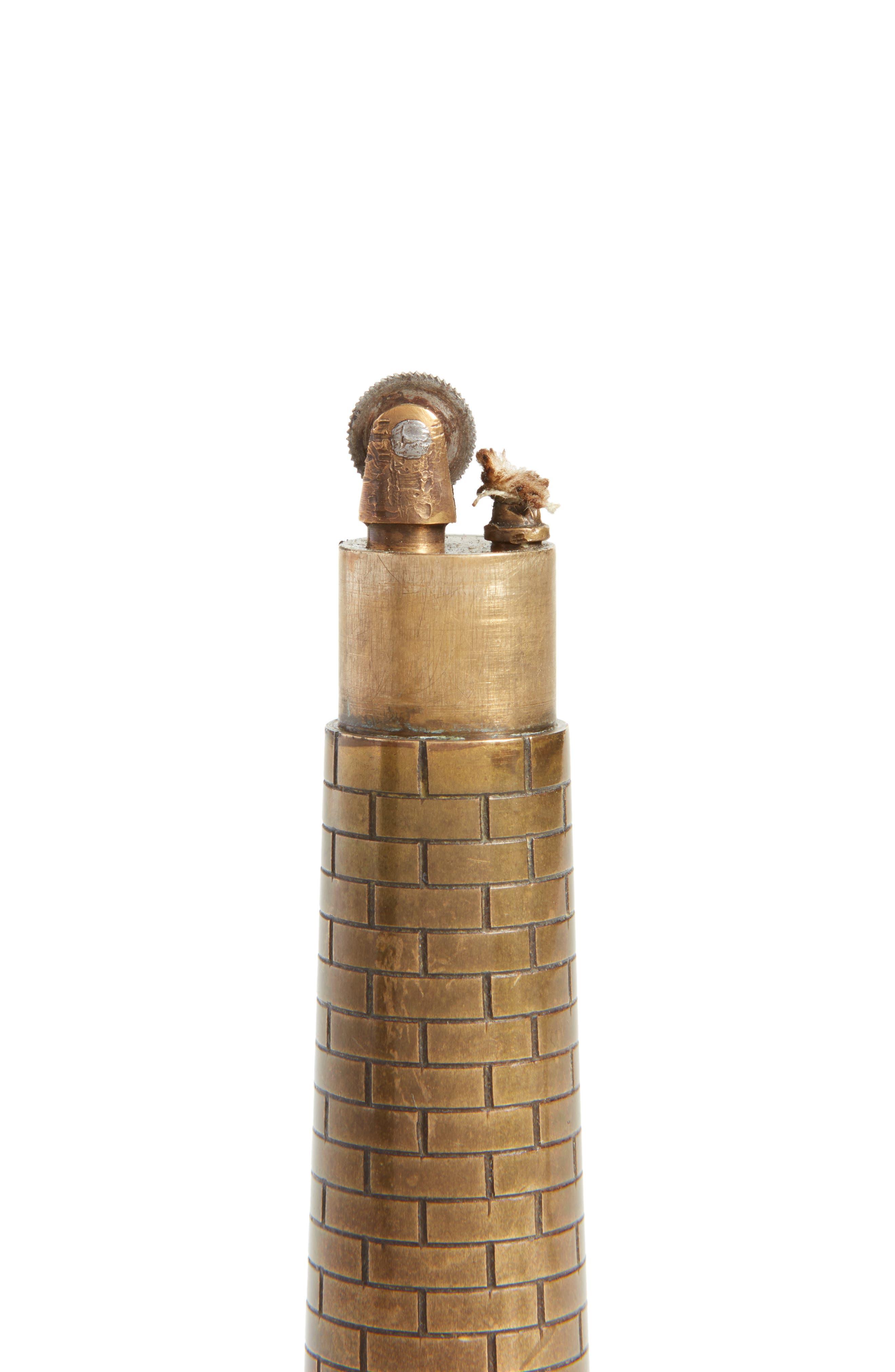 One of a Kind Vintage Brass Lighthouse Table Lighter,                             Alternate thumbnail 2, color,                             BRONZE