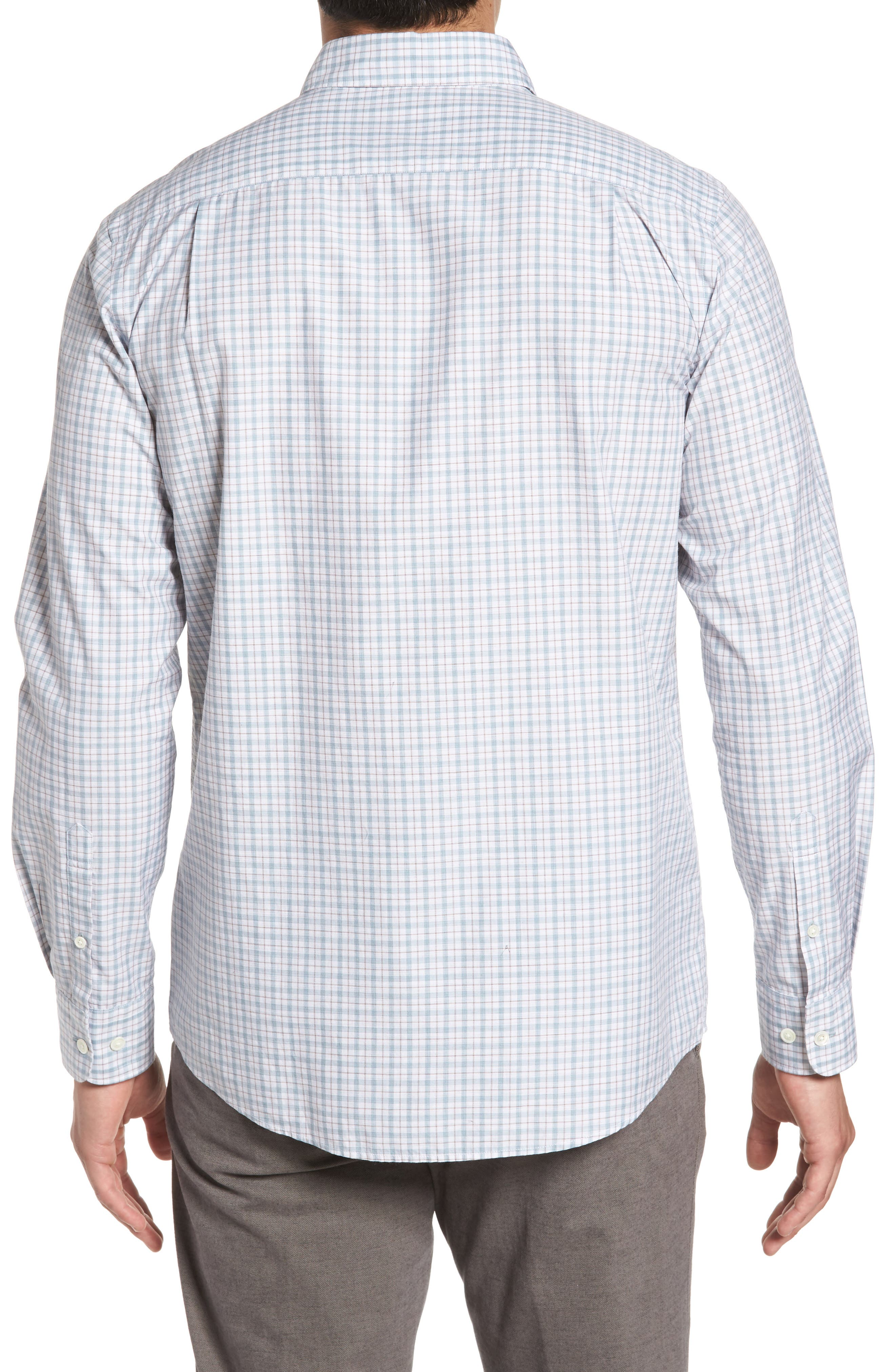 Carterton Sports Fit Plaid Sport Shirt,                             Alternate thumbnail 2, color,                             457