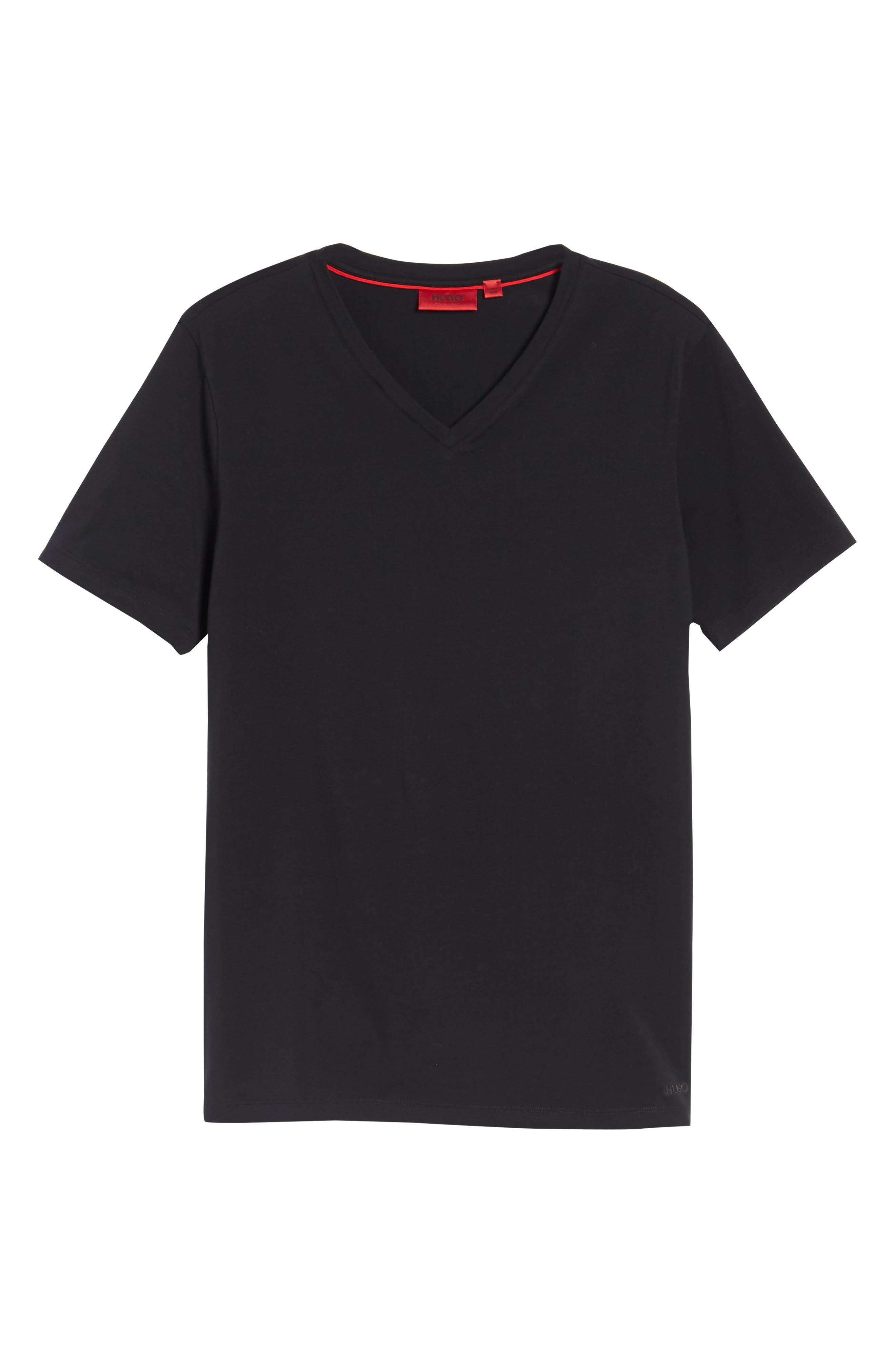 Dandre Slim Fit V-Neck T-Shirt,                             Alternate thumbnail 6, color,                             001