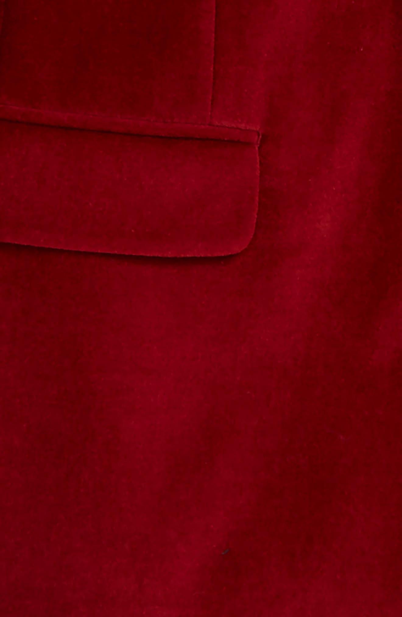 Velveteen Blazer,                             Alternate thumbnail 2, color,                             RED