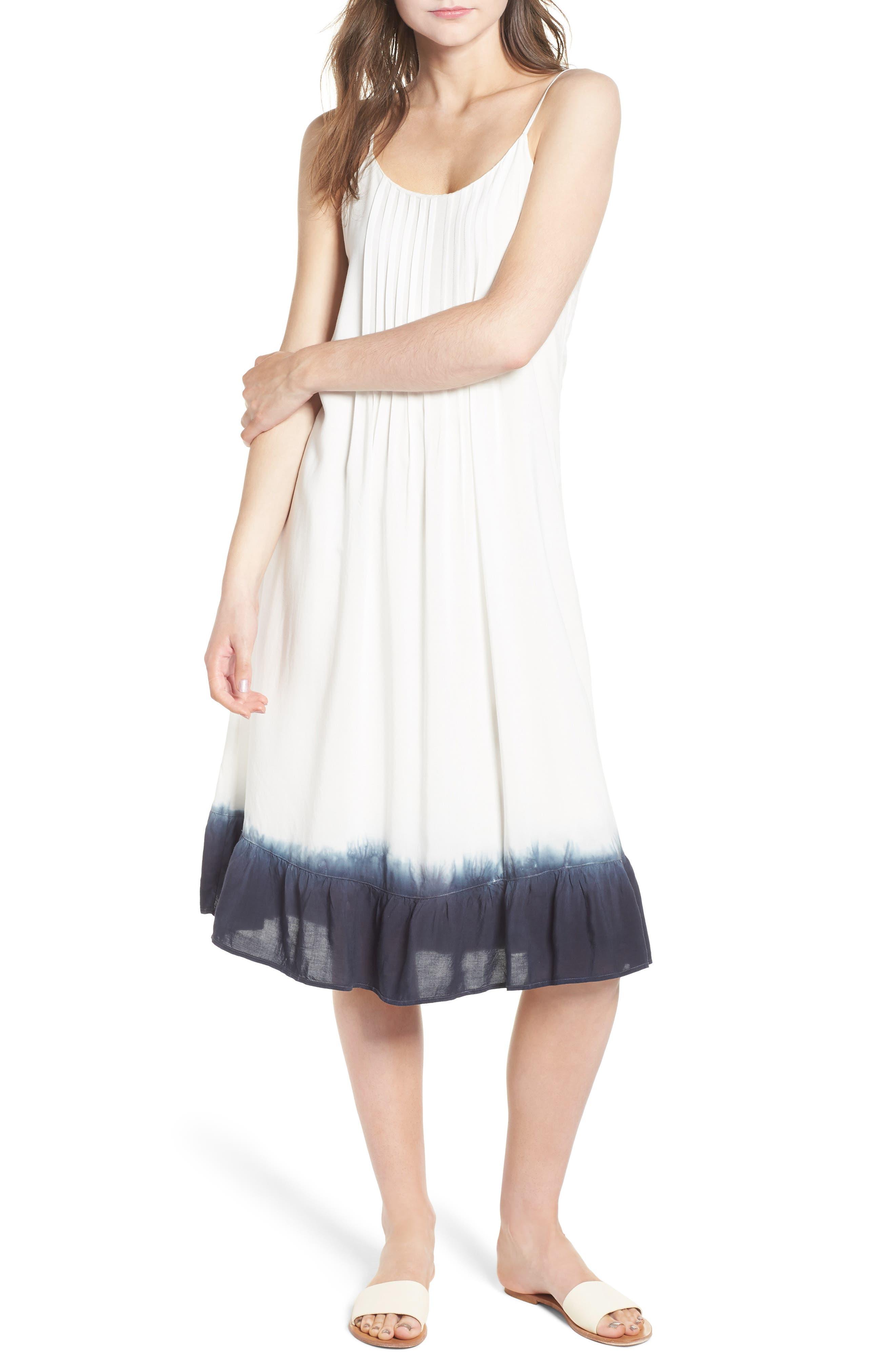 Tie Dye Ruffle Dress,                             Main thumbnail 1, color,                             114