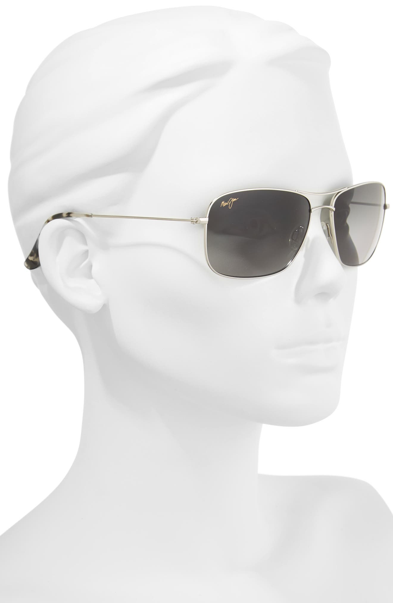 Wiki Wiki 59mm PolarizedPlus2<sup>®</sup> Aviator Sunglasses,                             Alternate thumbnail 2, color,                             SILVER/ NEUTRAL GREY