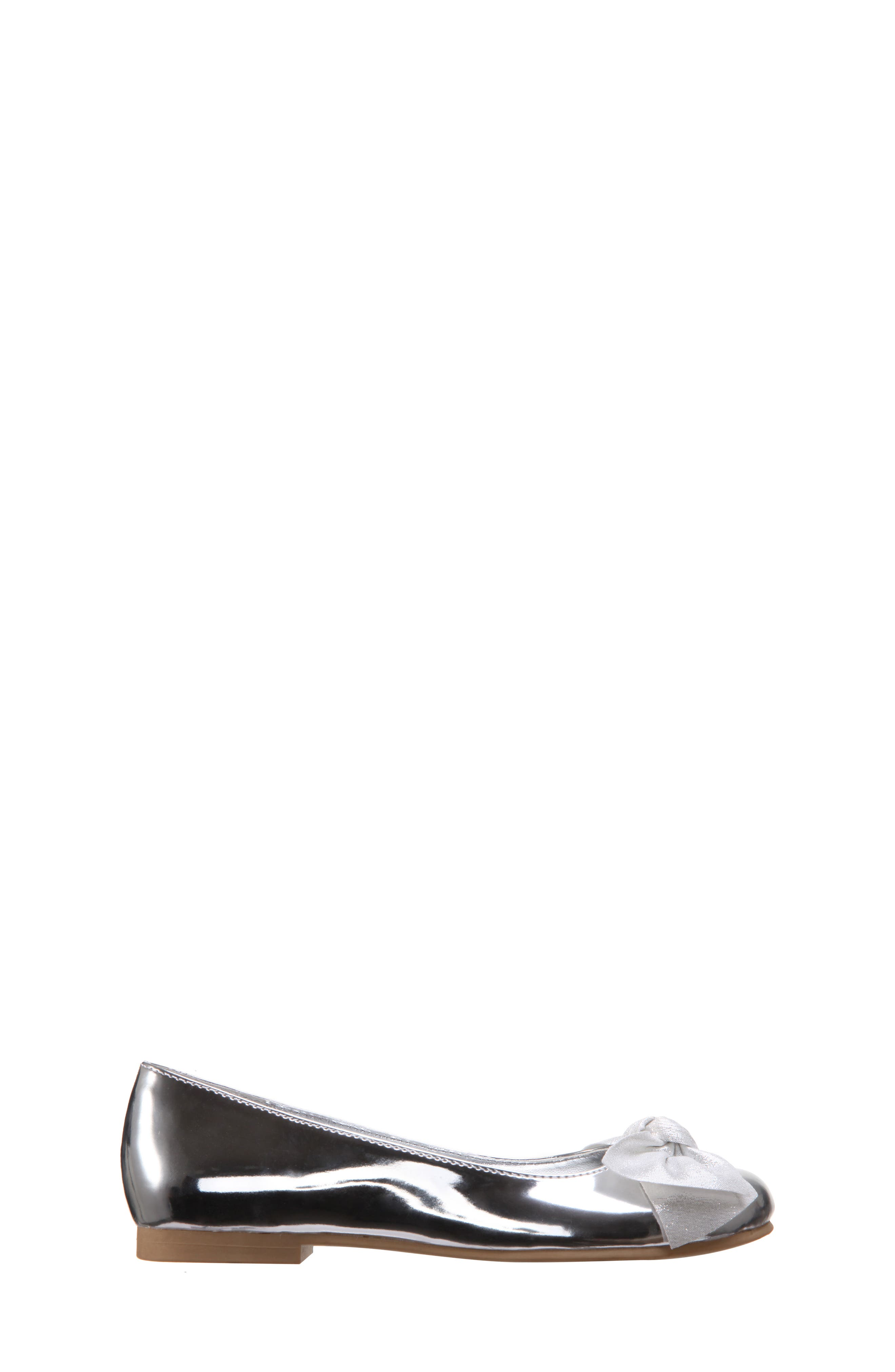 Katelyn Glitter Bow Metallic Ballet Flat,                             Alternate thumbnail 3, color,                             048