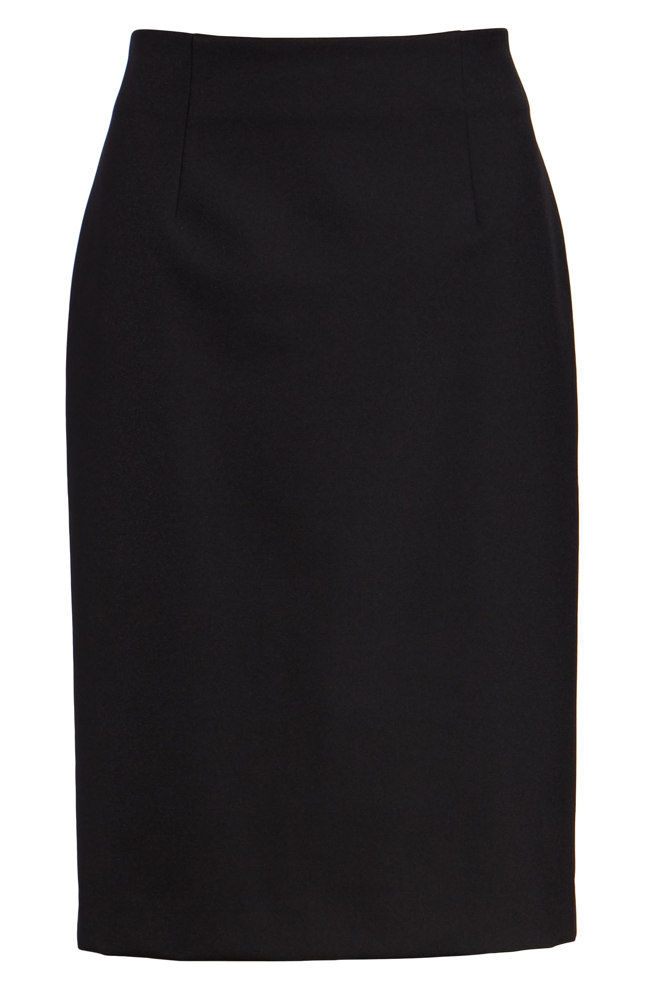 Pencil Skirt,                             Alternate thumbnail 7, color,                             BLACK