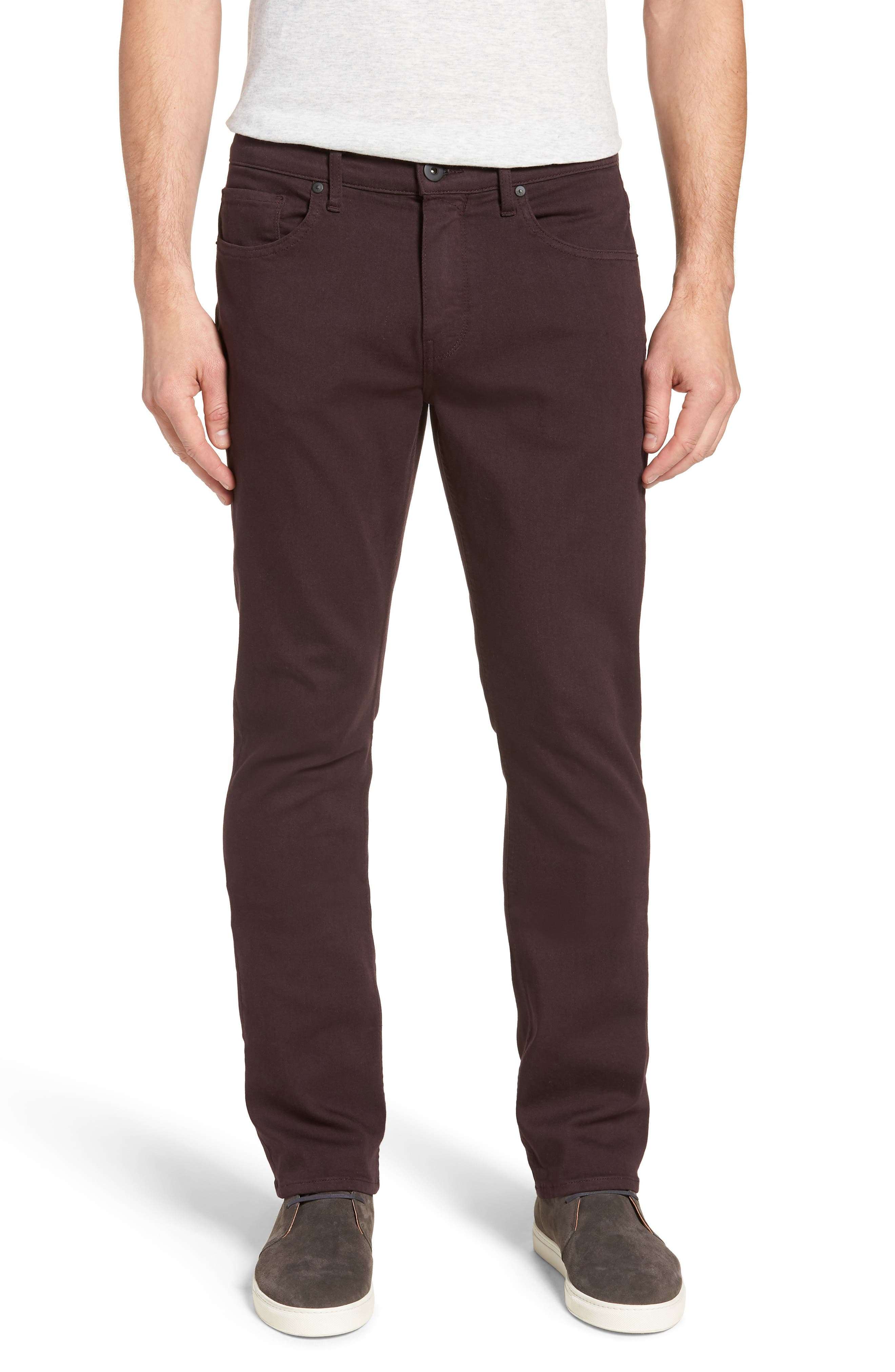 Transcend - Federal Slim Straight Fit Jeans,                             Main thumbnail 1, color,                             DARK PORT
