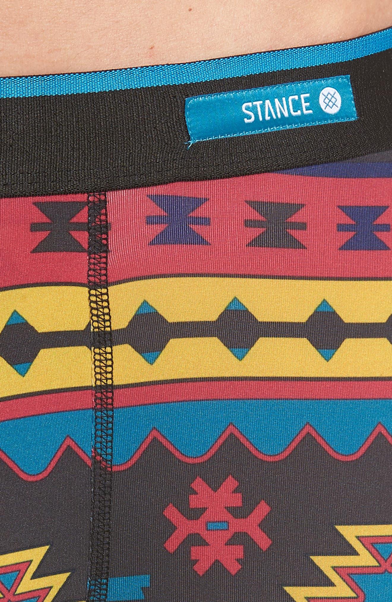 Station Patterned Boxer Briefs,                             Alternate thumbnail 4, color,                             BLACK