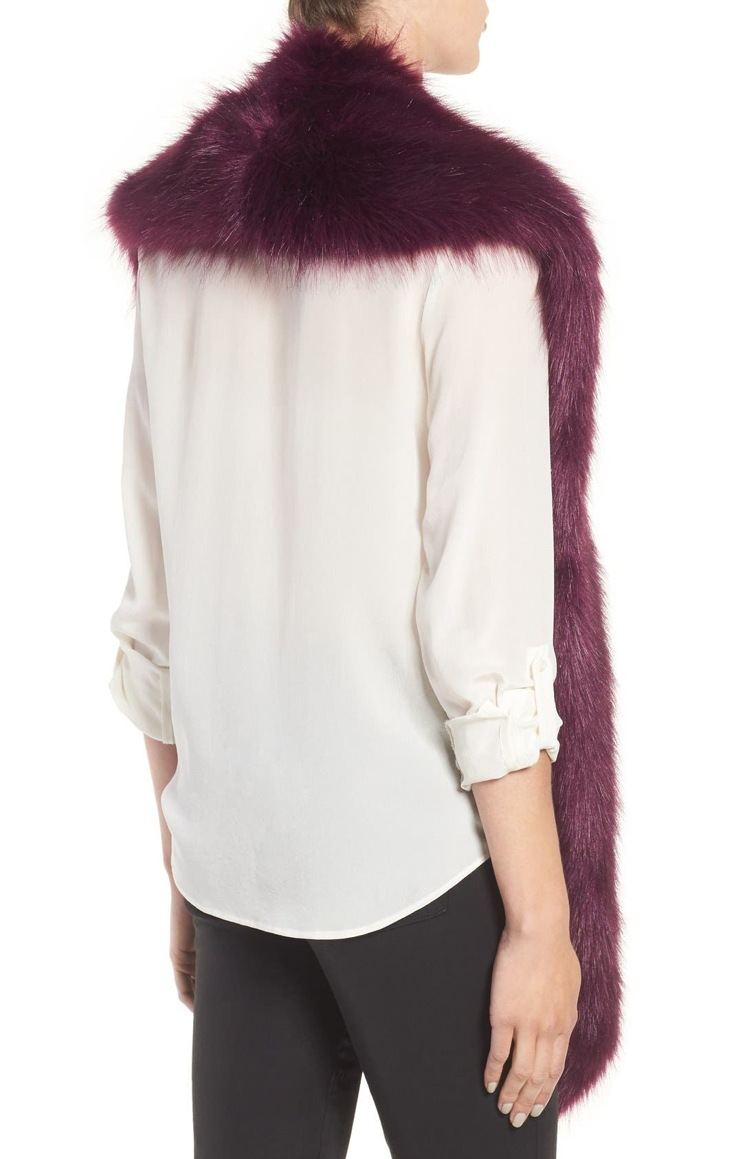 Faux Mink Stole,                             Alternate thumbnail 10, color,