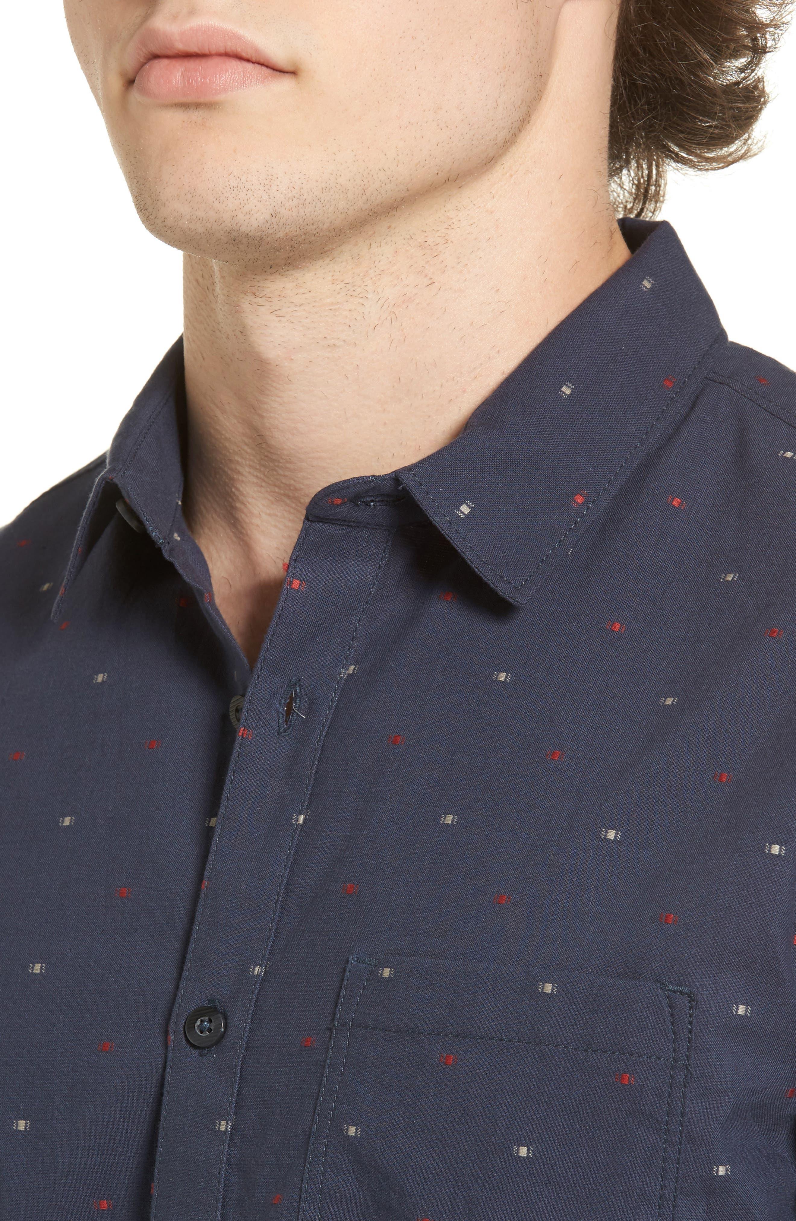 Cruisin Dobby Woven Shirt,                             Alternate thumbnail 8, color,