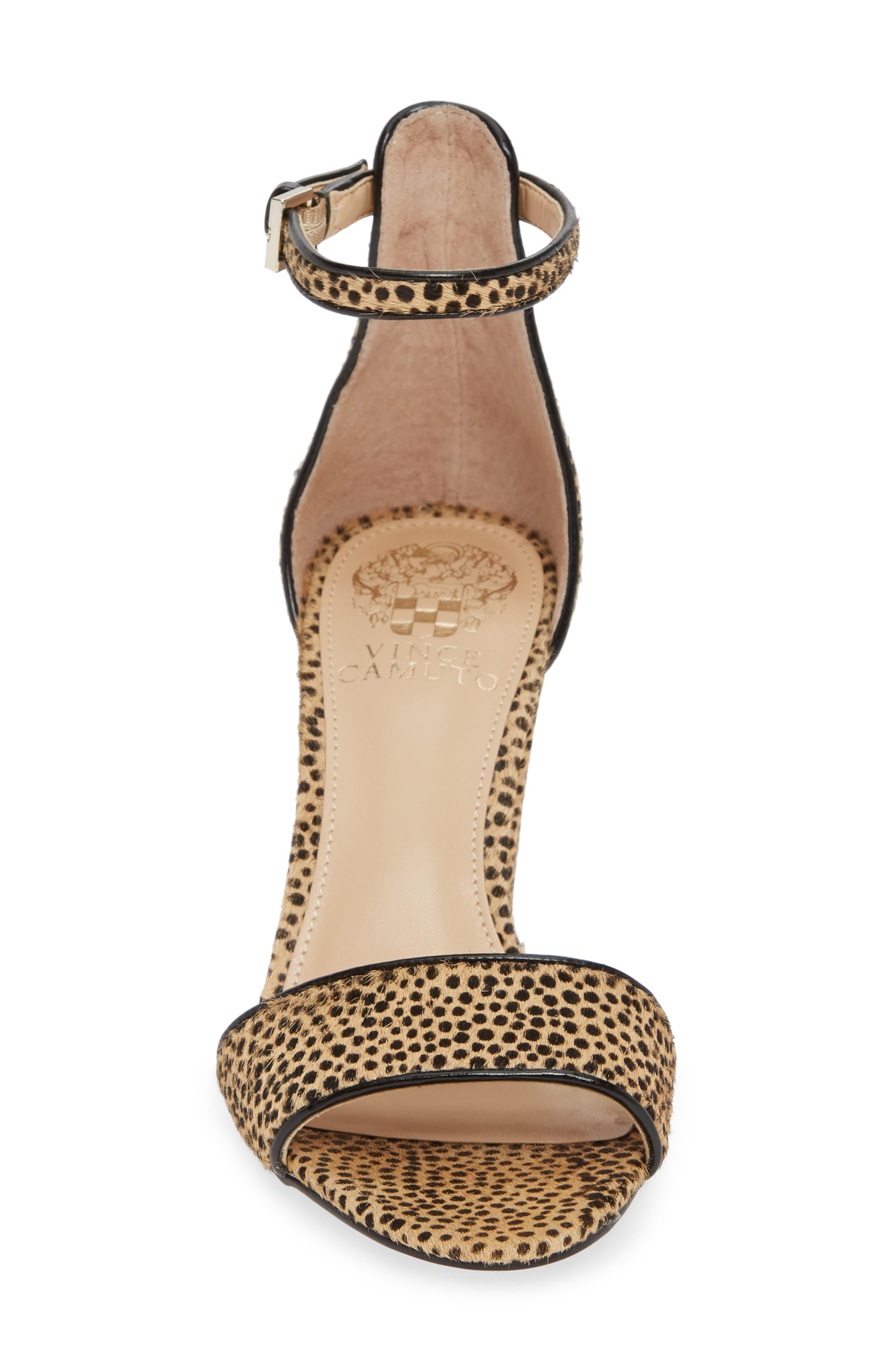 Corlina Genuine Calf Hair Ankle Strap Sandal,                             Alternate thumbnail 4, color,                             NATURAL SPOTTED CALF HAIR