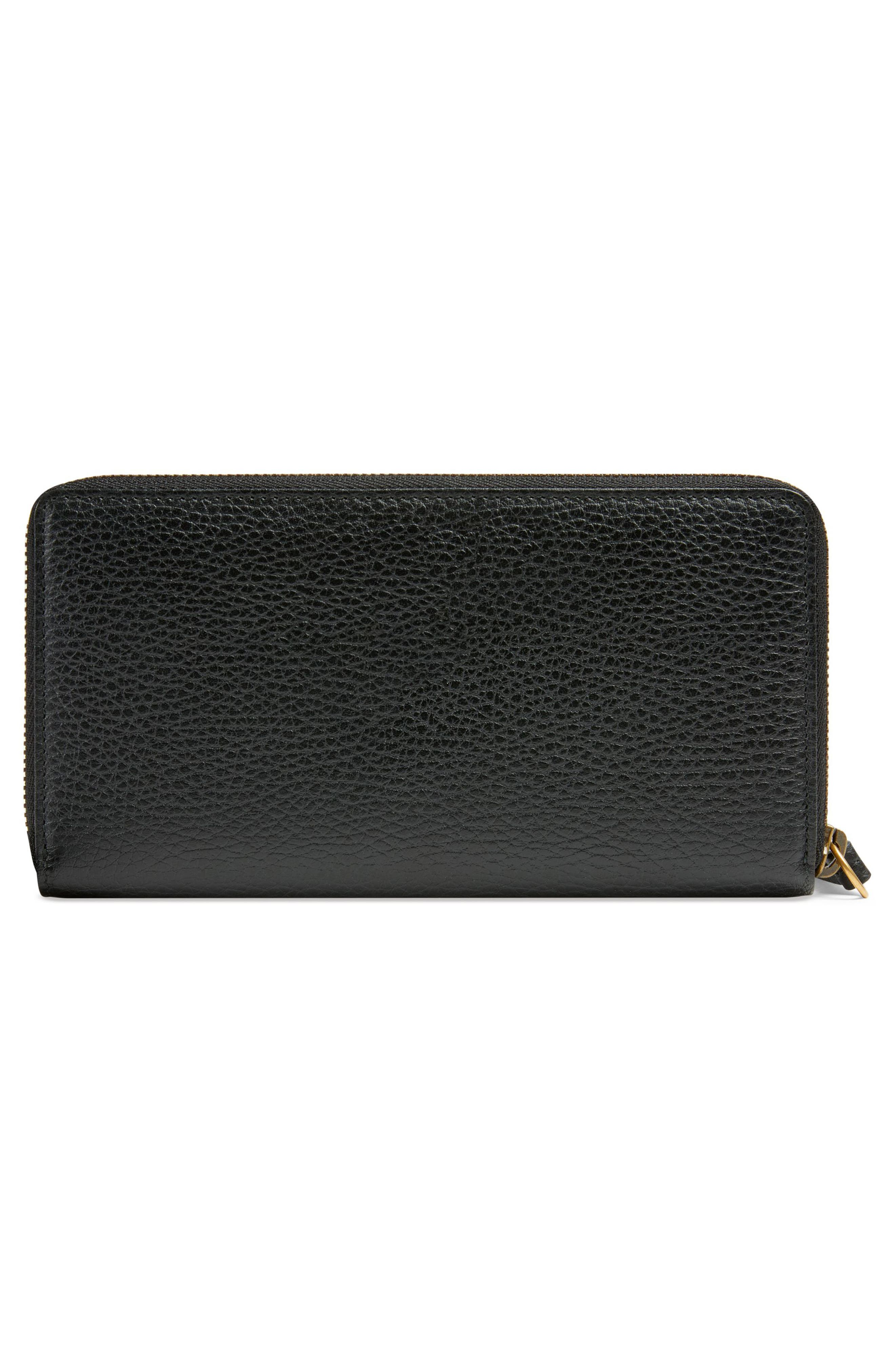 Linea Fioccino Leather Continental Wallet,                             Alternate thumbnail 3, color,                             NERO/ PERFECT PINK/ CRYSTAL
