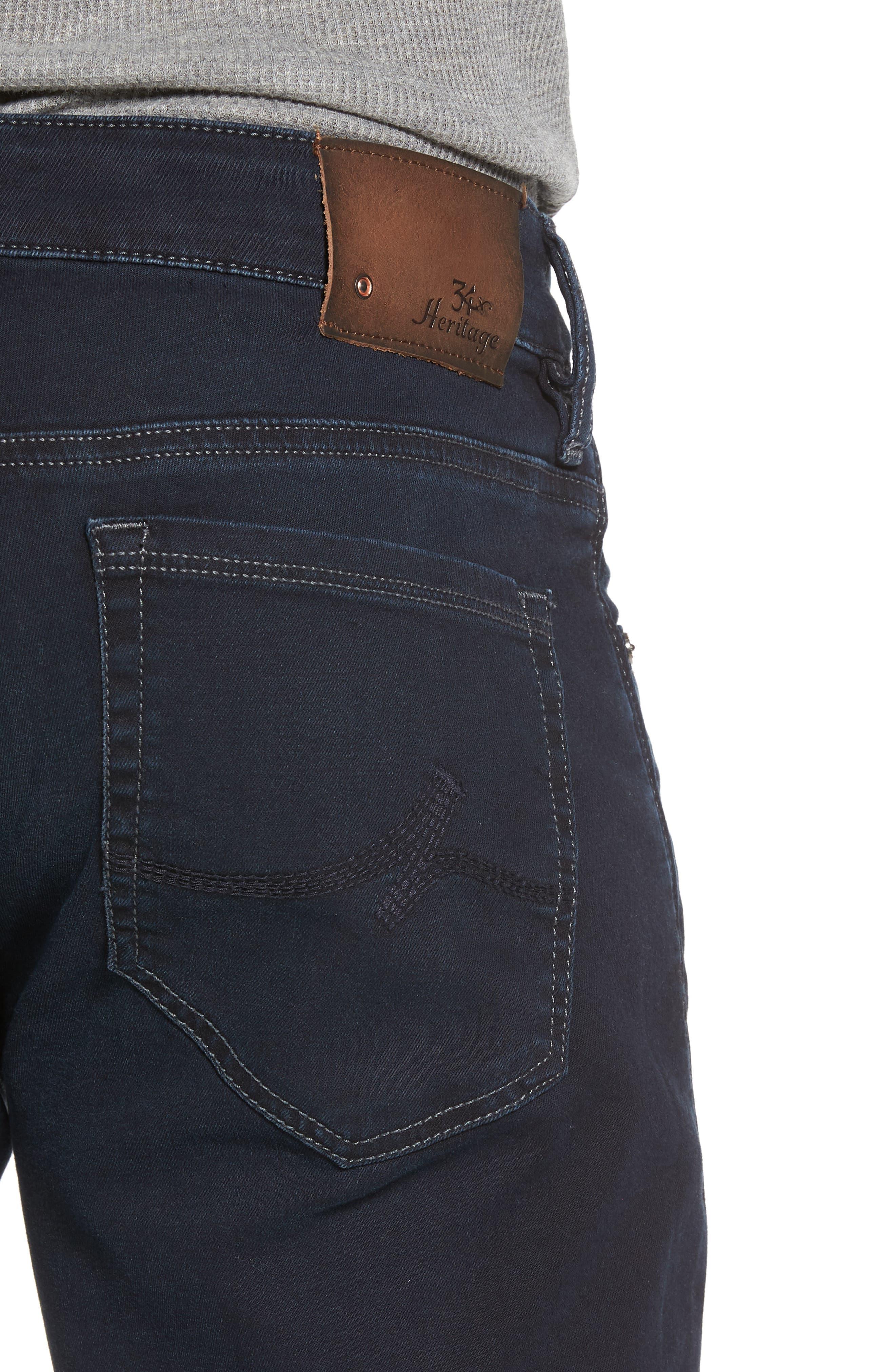 Cool Slim Straight Leg Jeans,                             Alternate thumbnail 4, color,                             MIDNIGHT AUSTIN