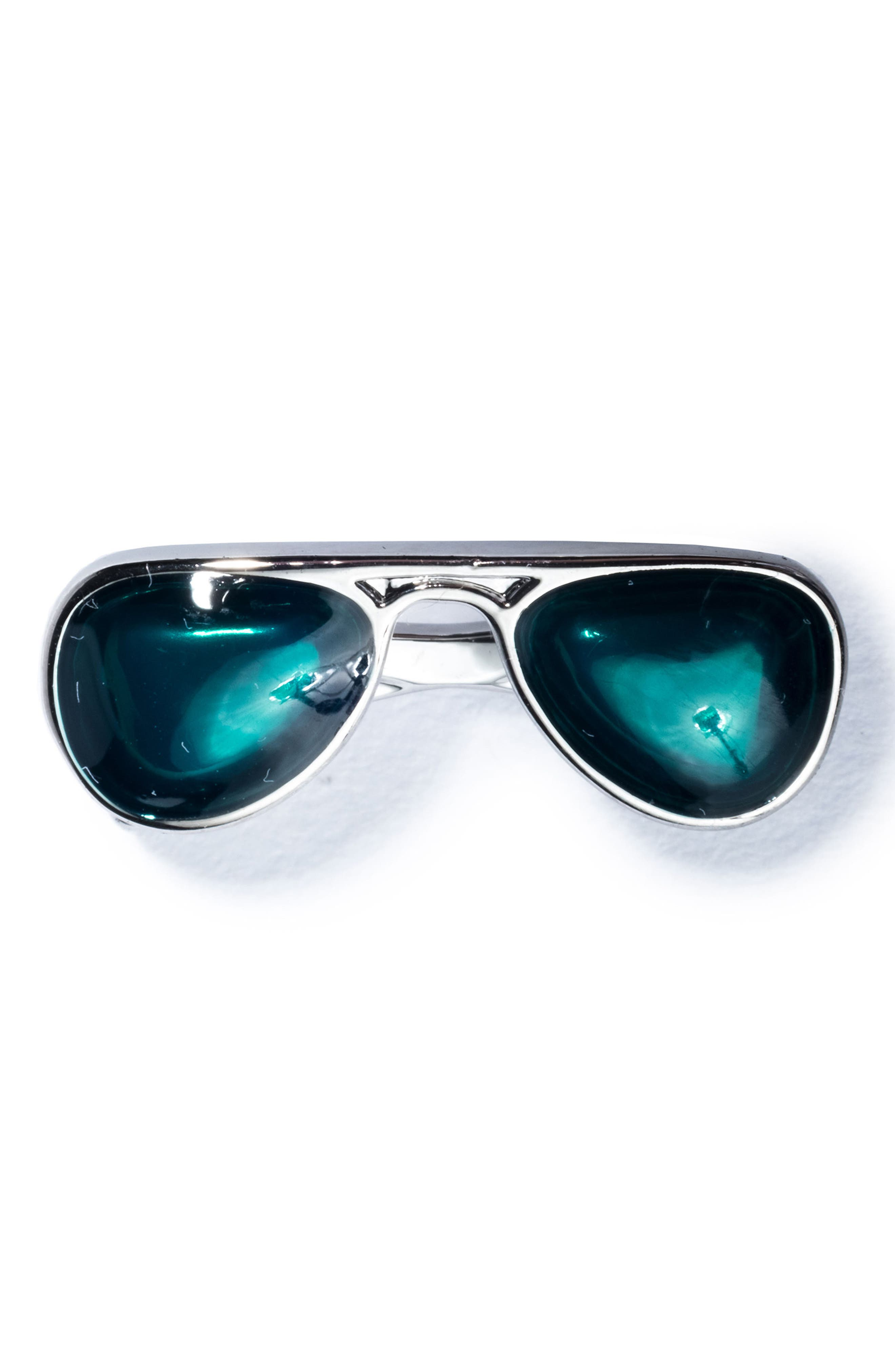 Sunglasses Lapel Pin,                         Main,                         color, GREEN