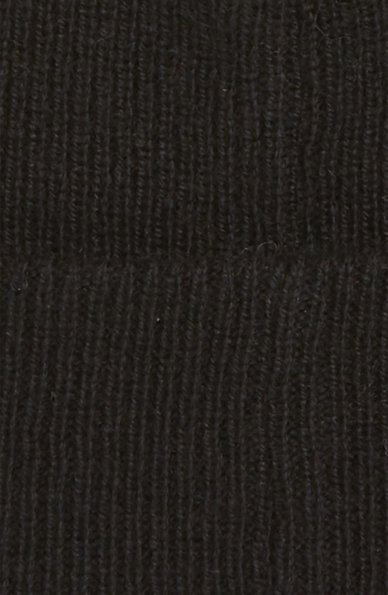 High Cuff Knit Wool & Cashmere Beanie,                             Alternate thumbnail 2, color,                             001