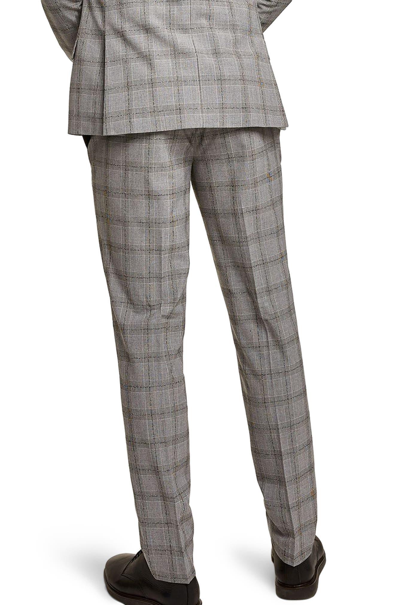 Check Suit Trousers,                             Alternate thumbnail 2, color,                             001