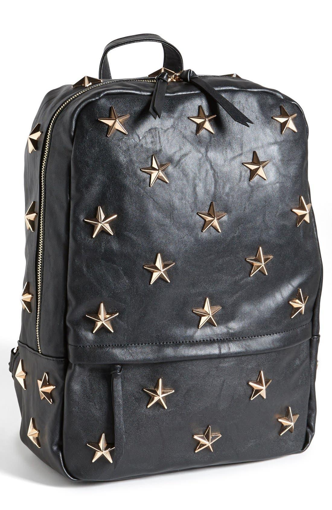 'Star' Stud Backpack,                         Main,                         color, 001