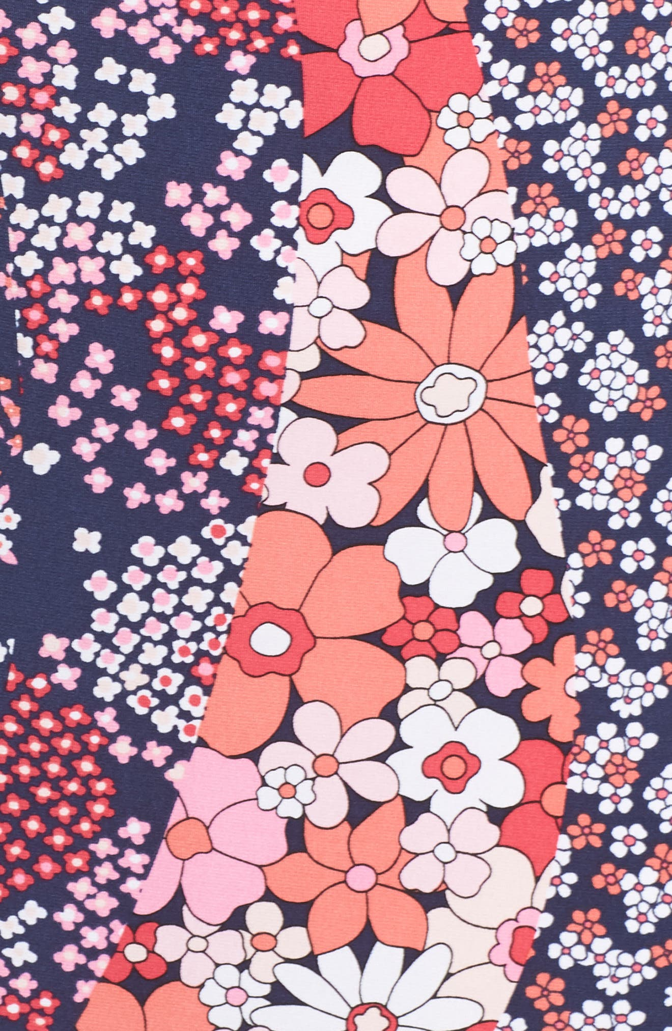 MICHAEL MICHAEL KORS,                             Patchwork Floral Bell Sleeve Shift Dress,                             Alternate thumbnail 6, color,                             679