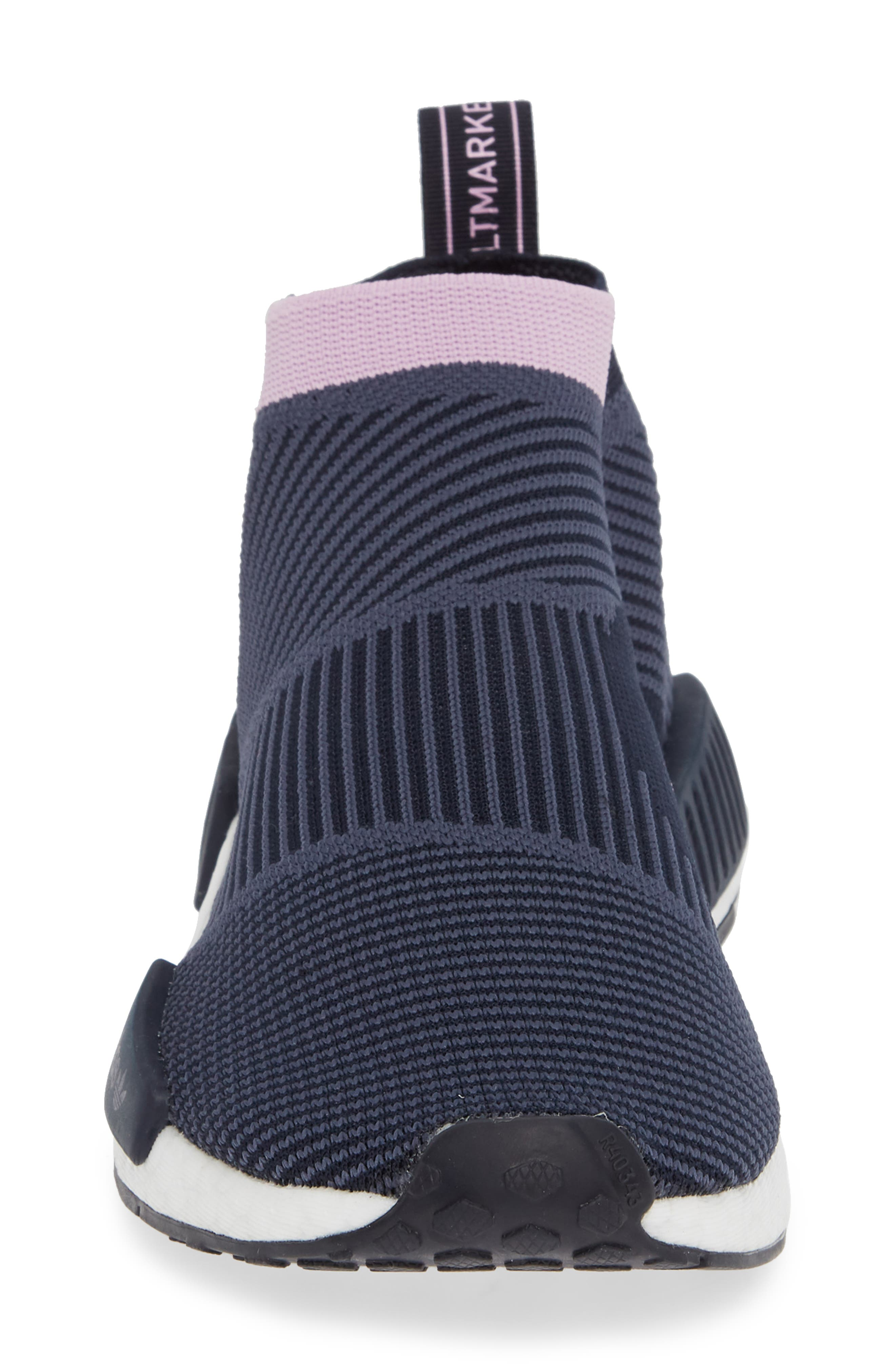 NMD_CS1 Primeknit Sneaker,                             Alternate thumbnail 4, color,                             LEGEND INK/ CLEAR LILAC