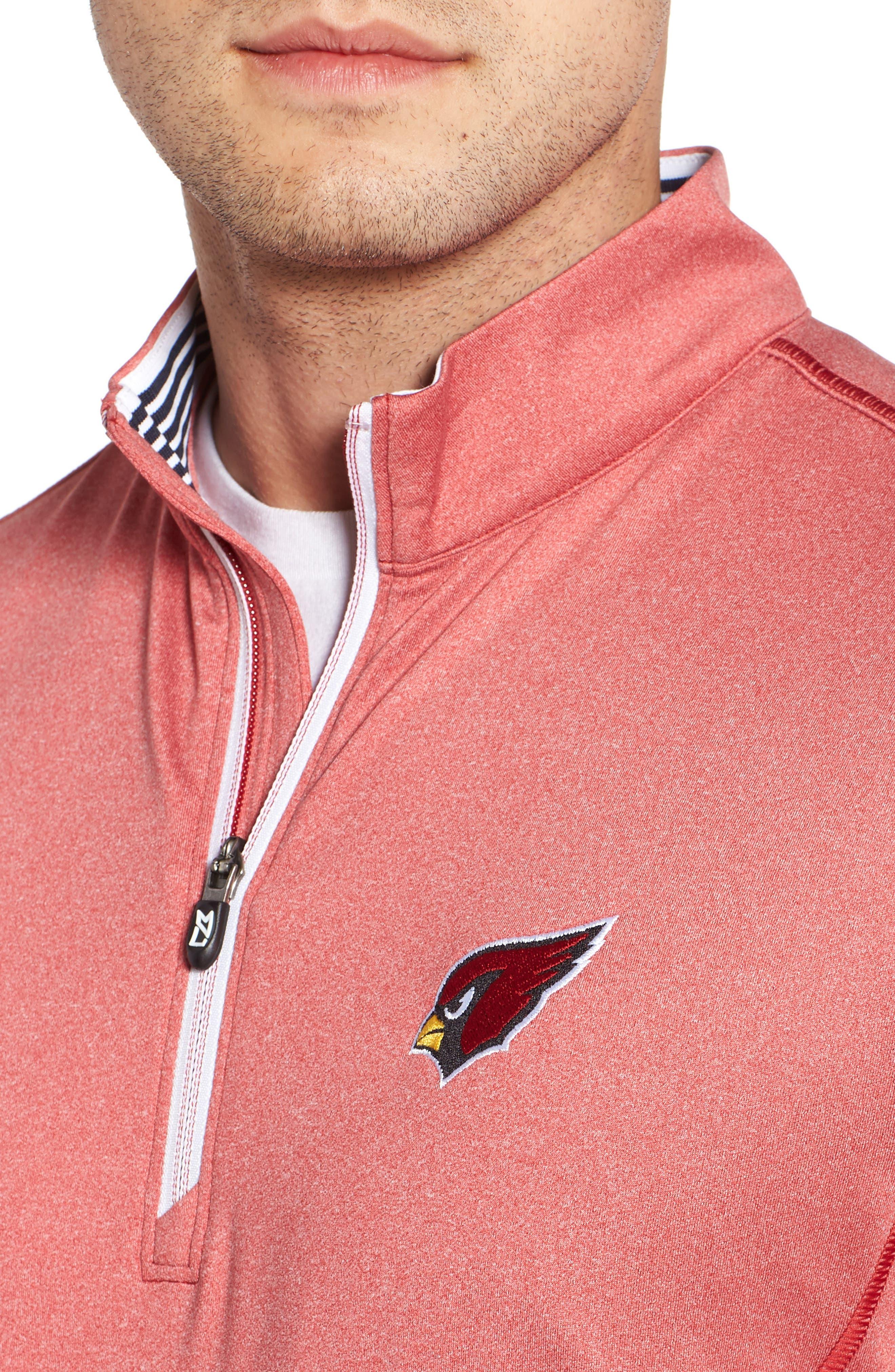 Endurance Arizona Cardinals Regular Fit Pullover,                             Alternate thumbnail 4, color,                             CARDINAL RED HEATHER