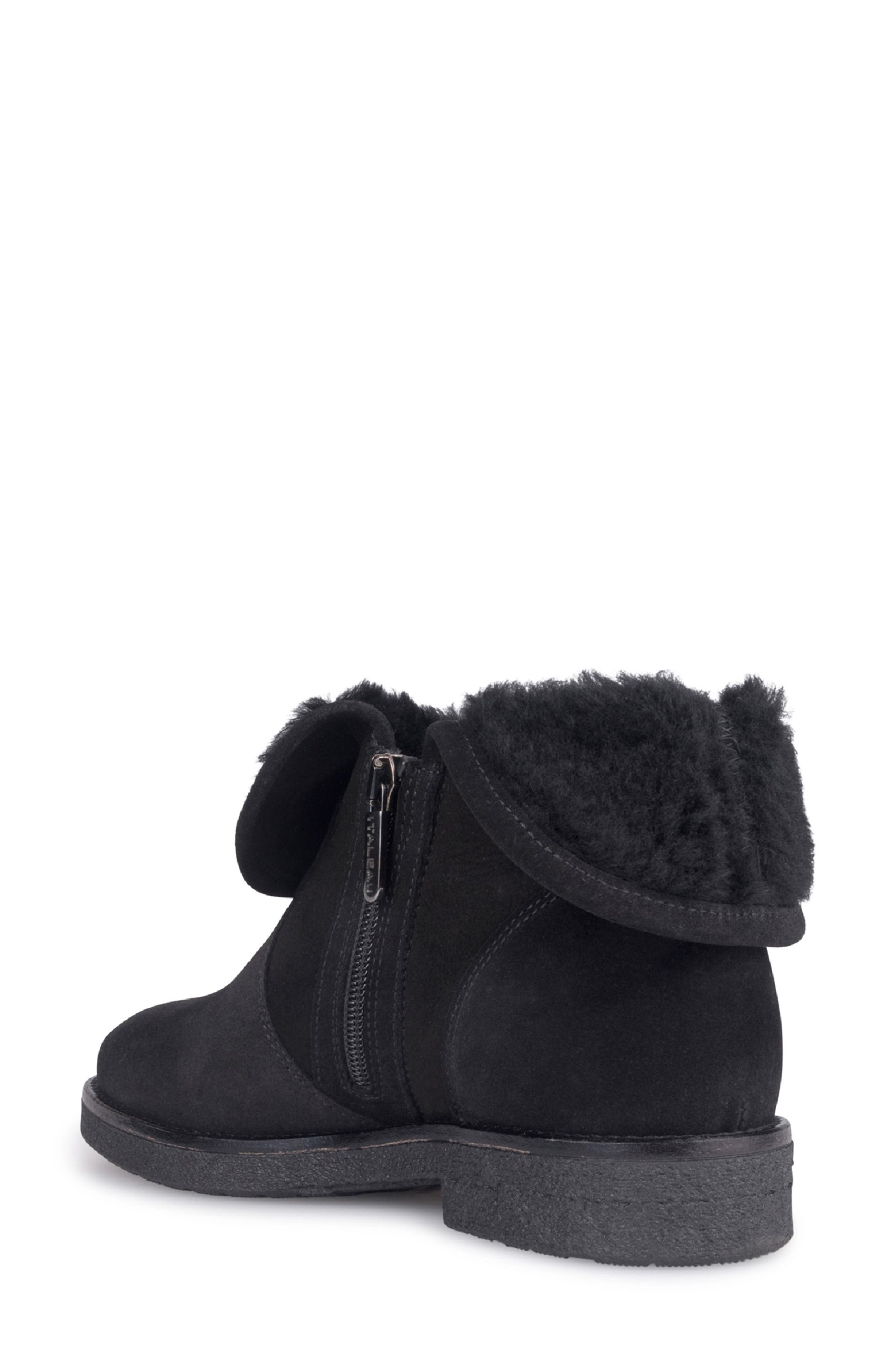Rosie Genuine Shearling Lined Bootie,                             Alternate thumbnail 2, color,                             NERO
