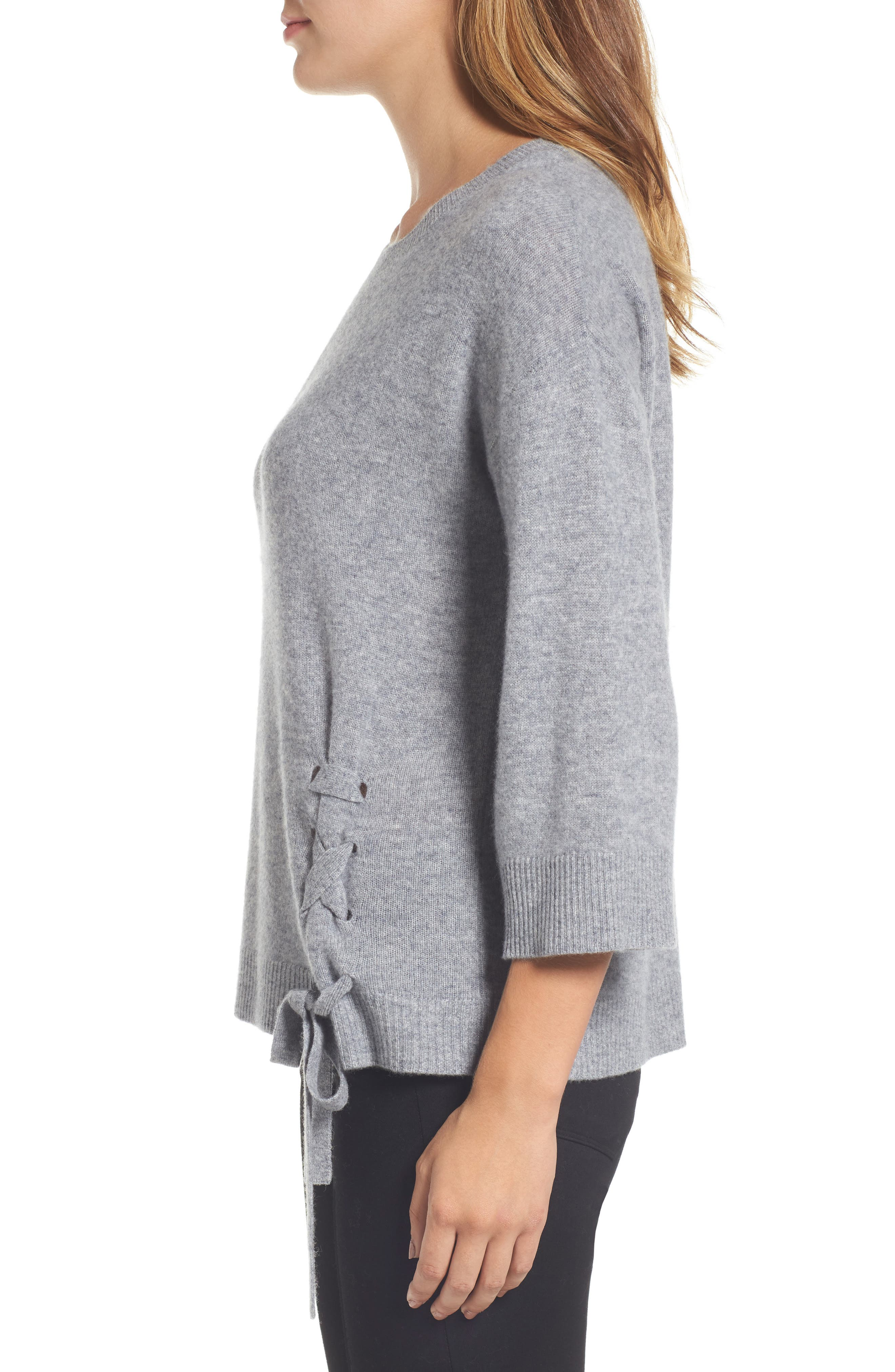 Side Tie Wool and Cashmere Sweater,                             Alternate thumbnail 14, color,