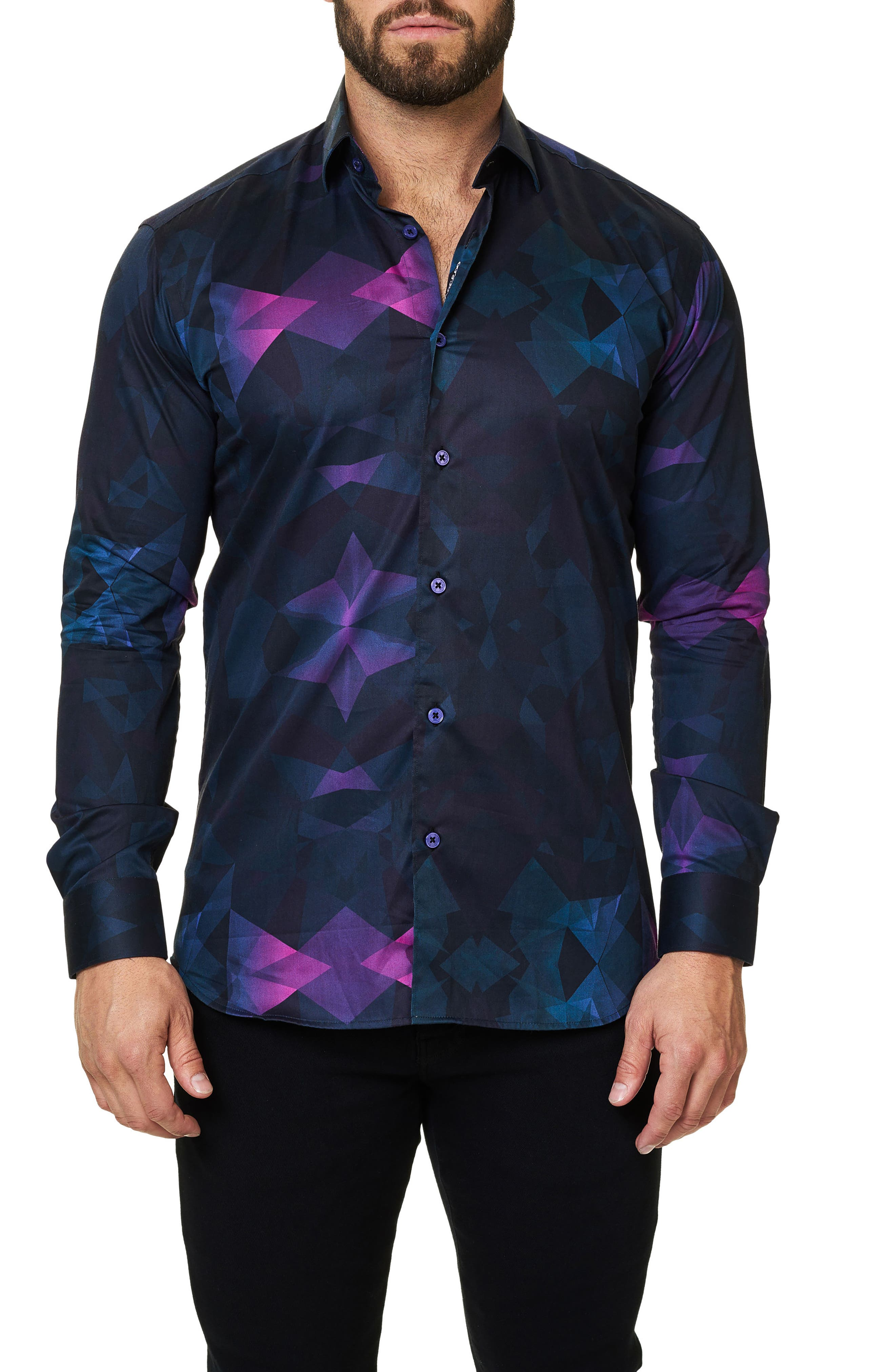 Luxor Webspread Dimensional Trim Fit Sport Shirt,                             Main thumbnail 1, color,                             002