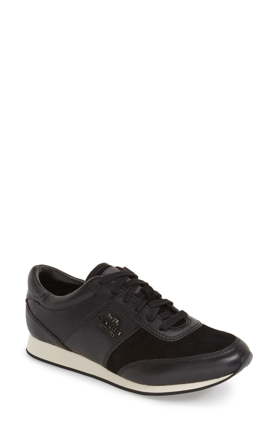 'Raylen' Leather Sneaker,                             Main thumbnail 1, color,                             004