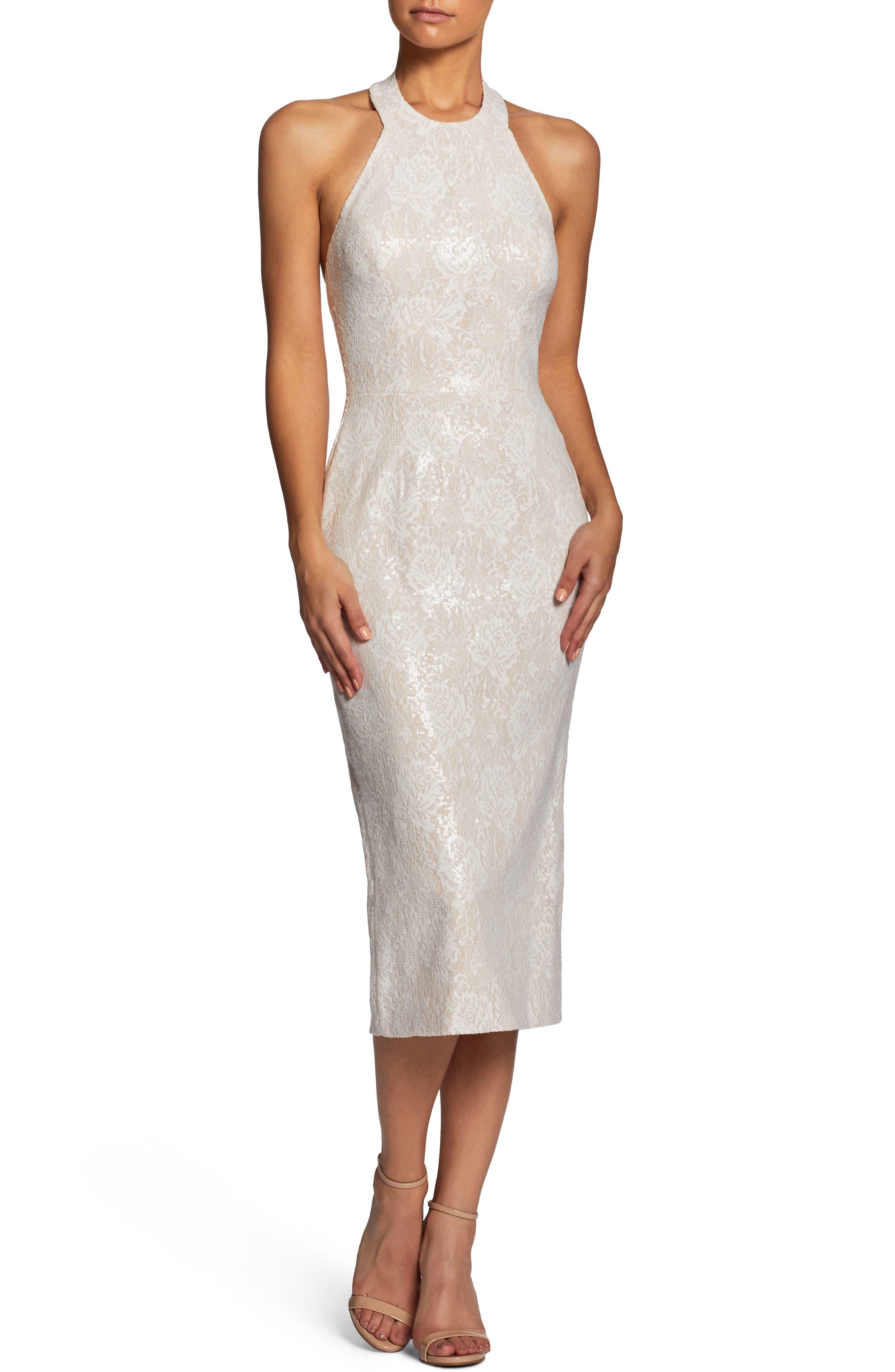 Cassie Halter Sequin Dress,                         Main,                         color, 154