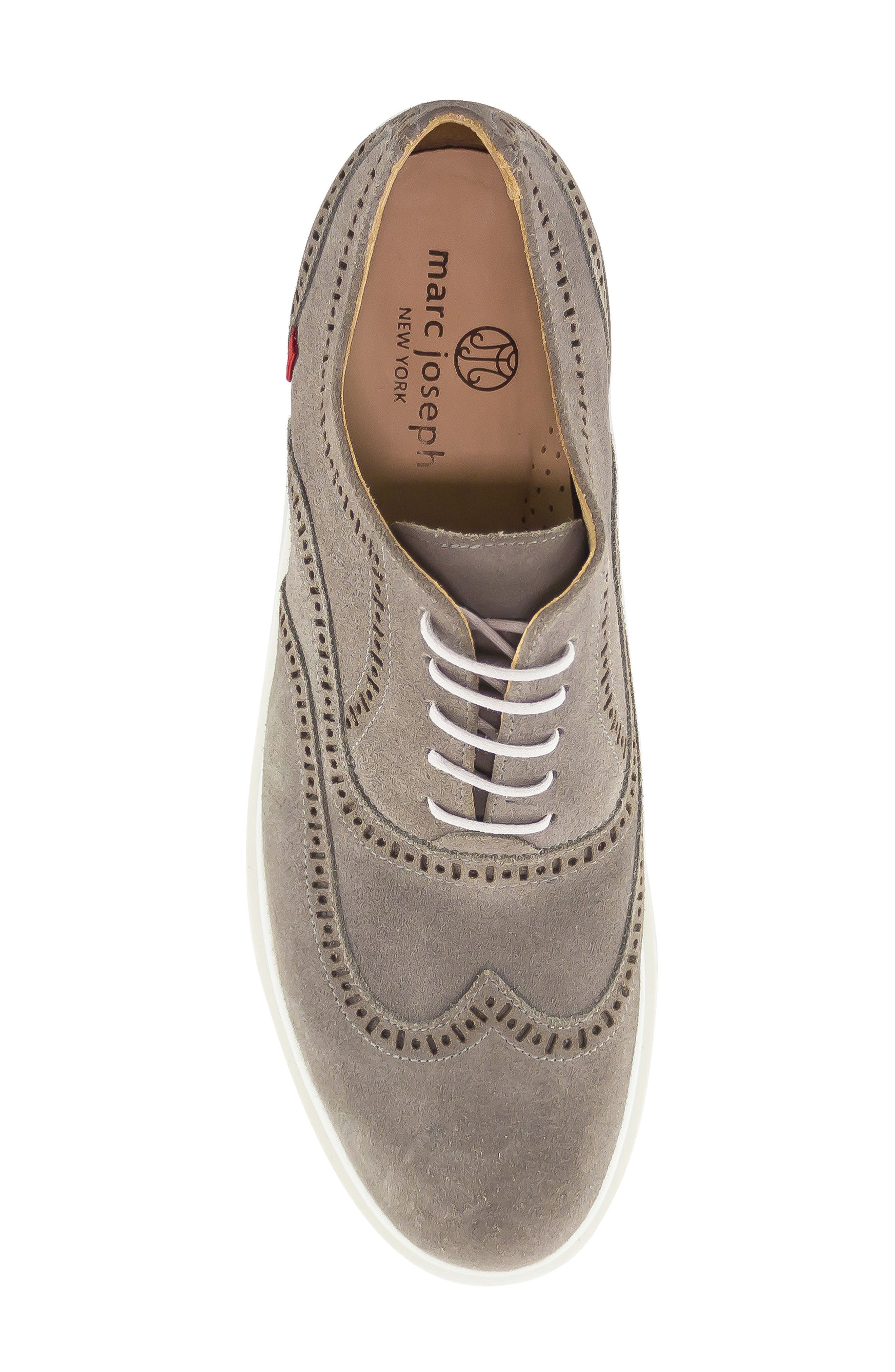 5th Ave Wingtip Sneaker,                             Alternate thumbnail 5, color,                             GREY SUEDE