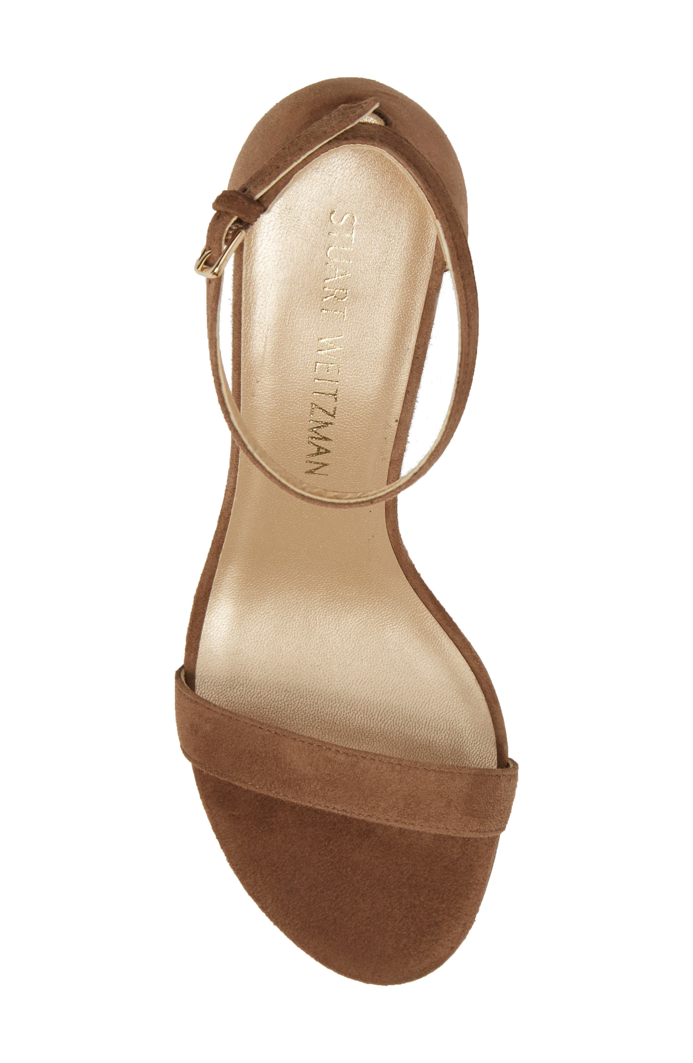 NearlyNude Ankle Strap Sandal,                             Alternate thumbnail 124, color,