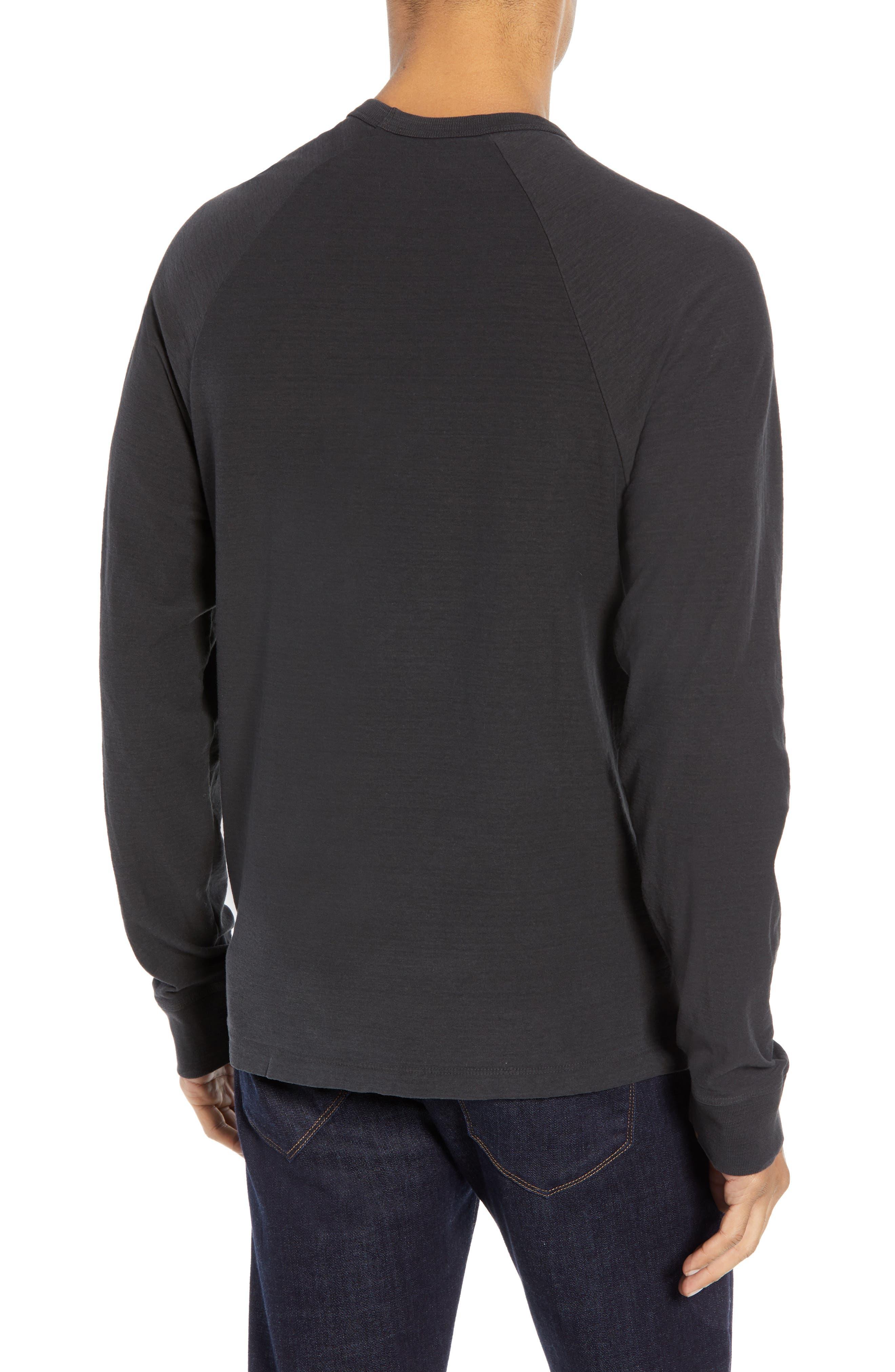 Microstripe Long Sleeve Raglan T-Shirt,                             Alternate thumbnail 2, color,                             CARBON