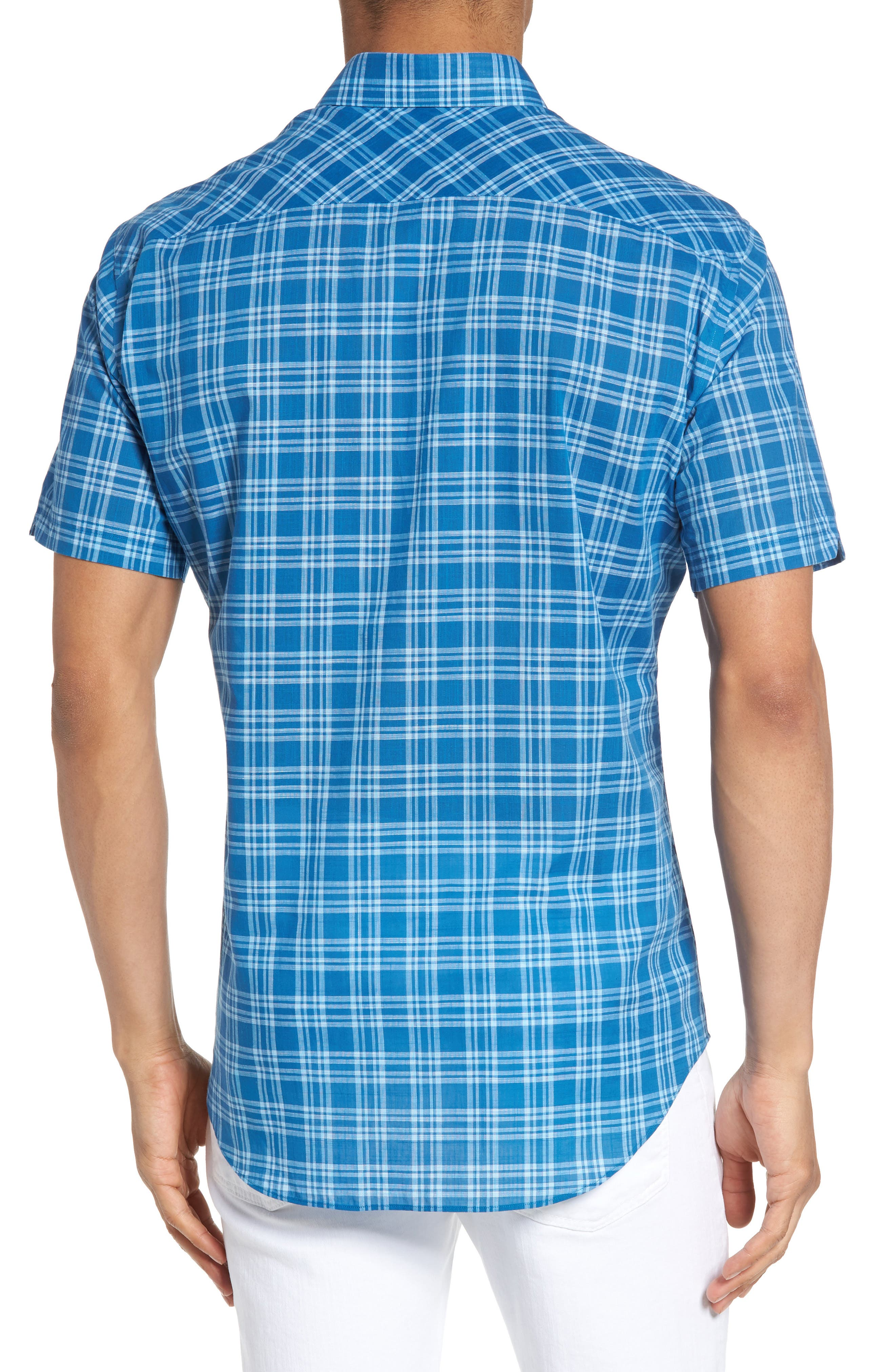 Kirchner Plaid Sport Shirt,                             Alternate thumbnail 2, color,                             460