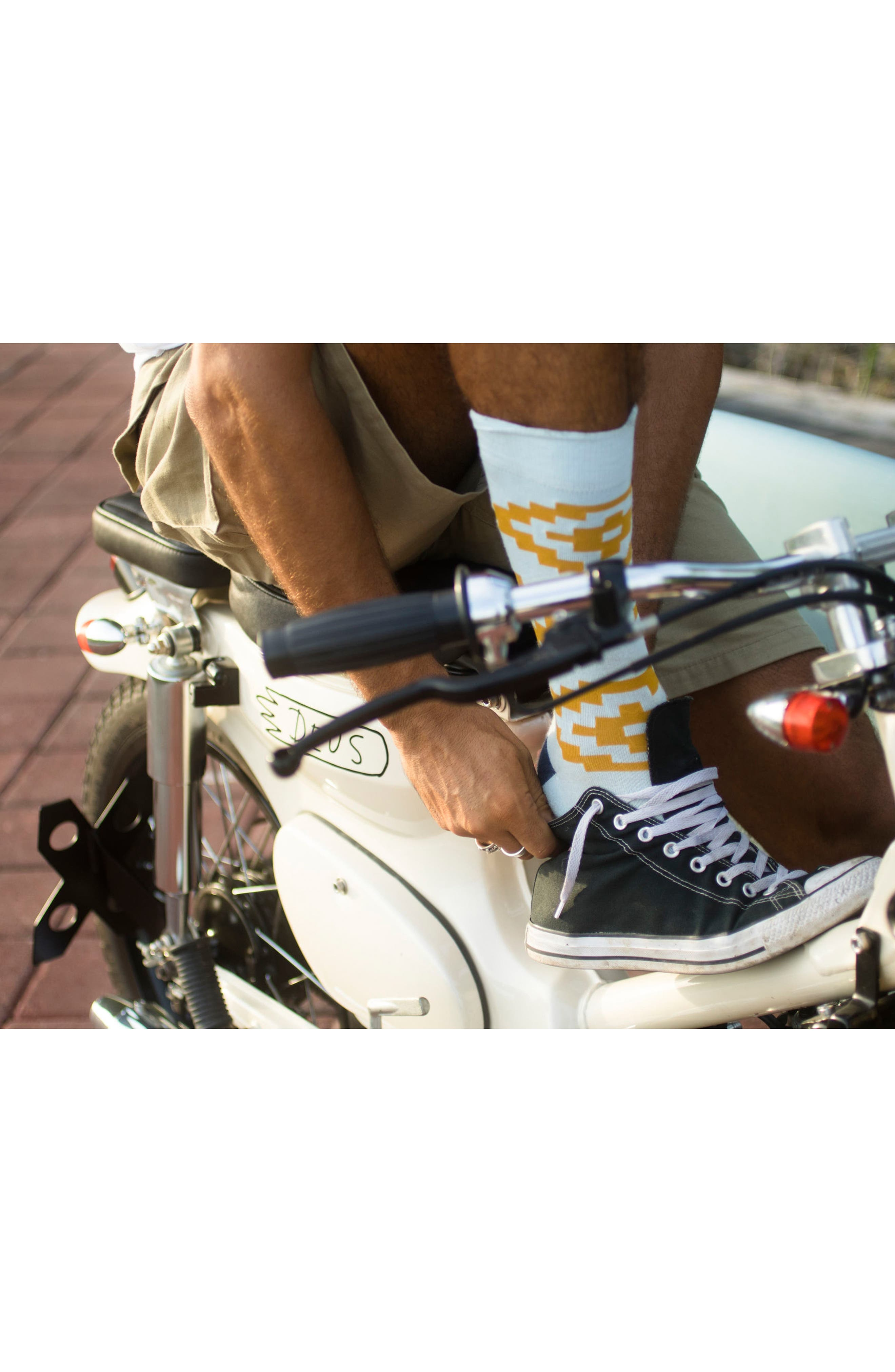 Cairns Crew Socks,                             Alternate thumbnail 3, color,                             420