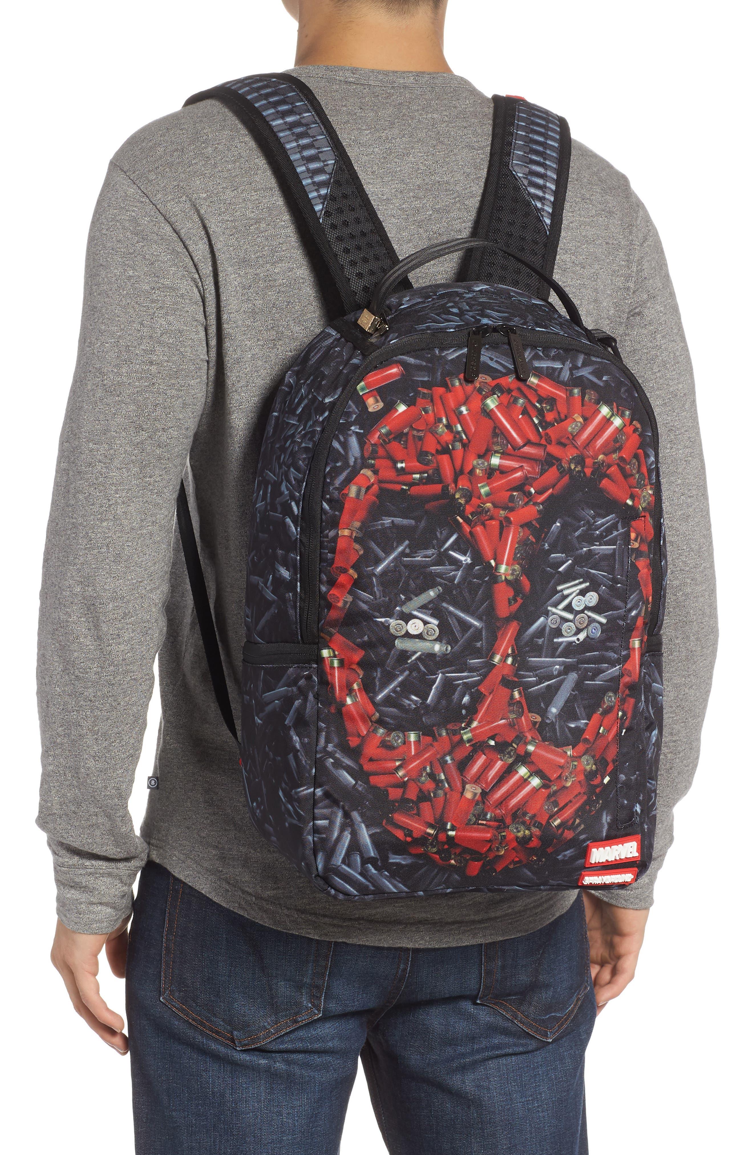 Deadpool Bullets Backpack,                             Alternate thumbnail 2, color,                             001