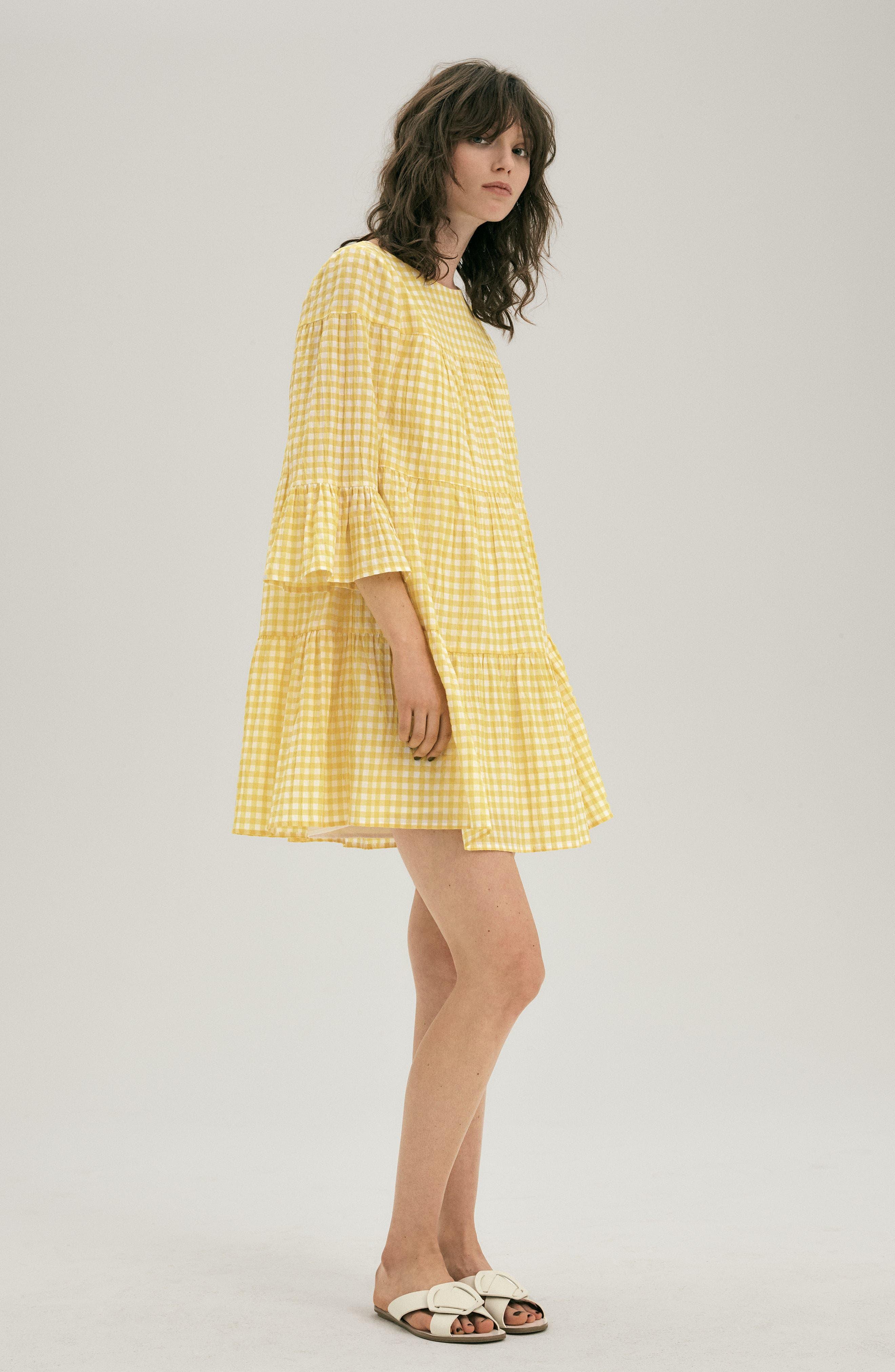 Gingham Swing Dress,                             Alternate thumbnail 8, color,                             740