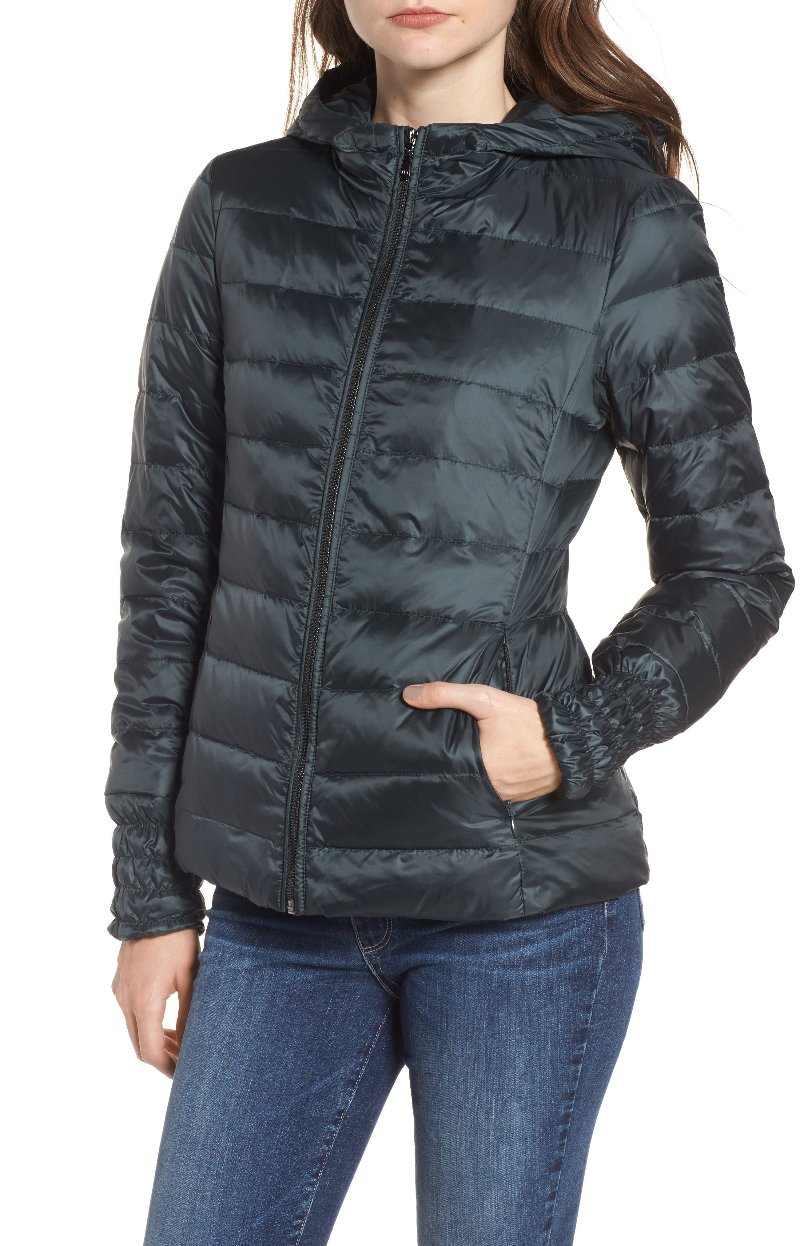 3-in-1 Layered Packable Quilted Down Coat,                             Alternate thumbnail 8, color,