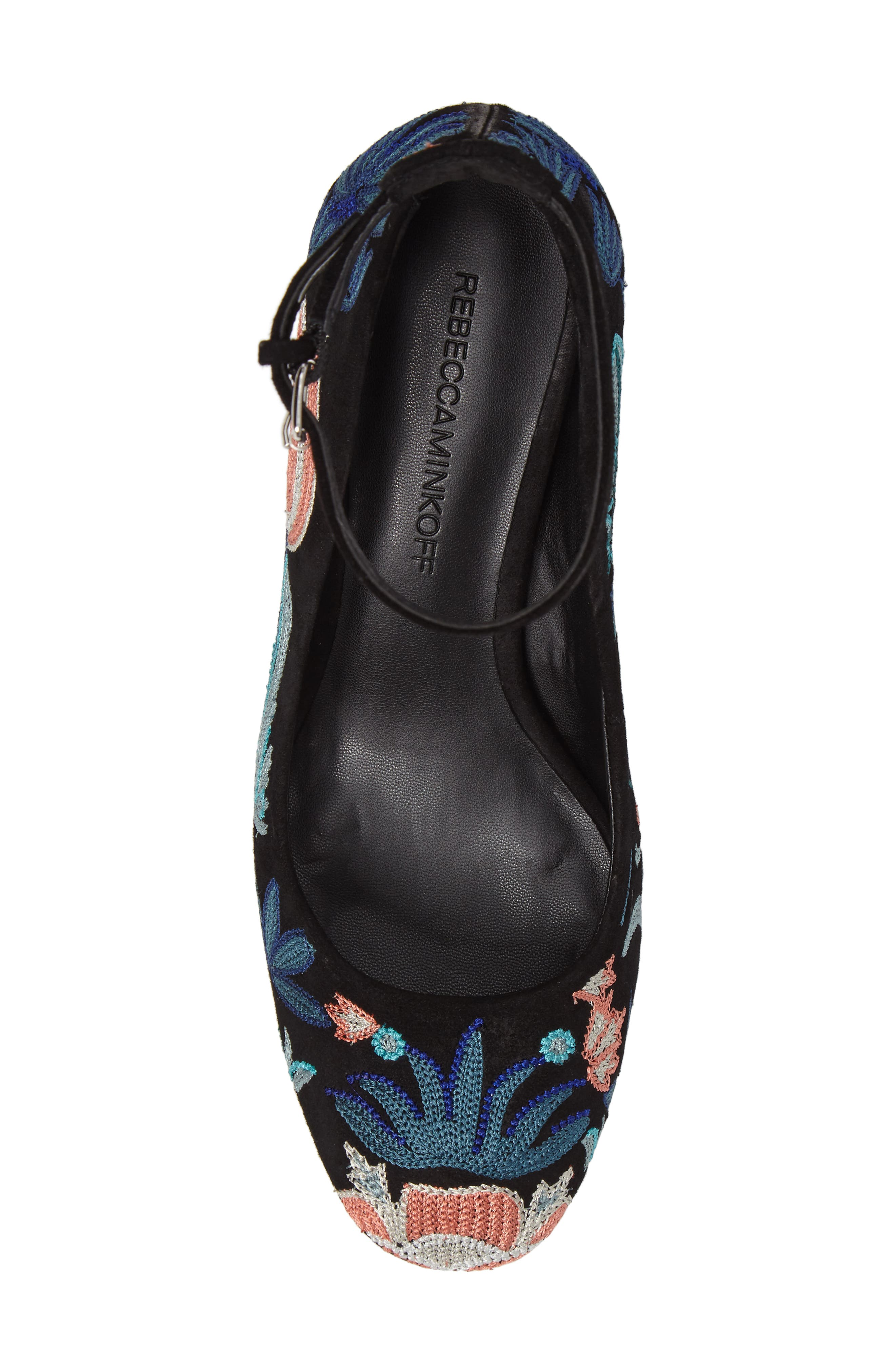 Bridget Floral Ankle Strap Pump,                             Alternate thumbnail 5, color,                             004