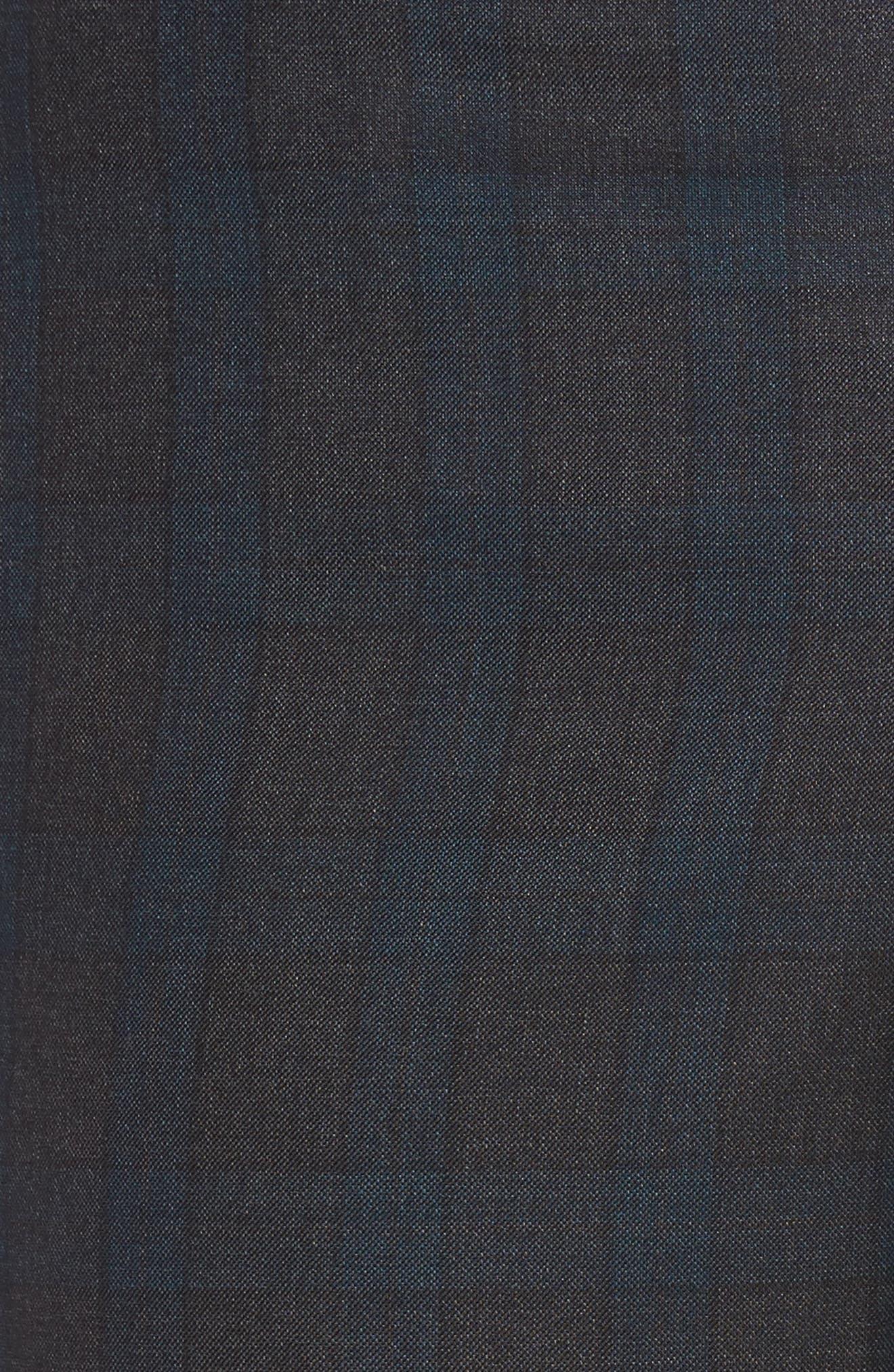 Jefferson Flat Front Plaid Wool Trousers,                             Alternate thumbnail 2, color,                             020