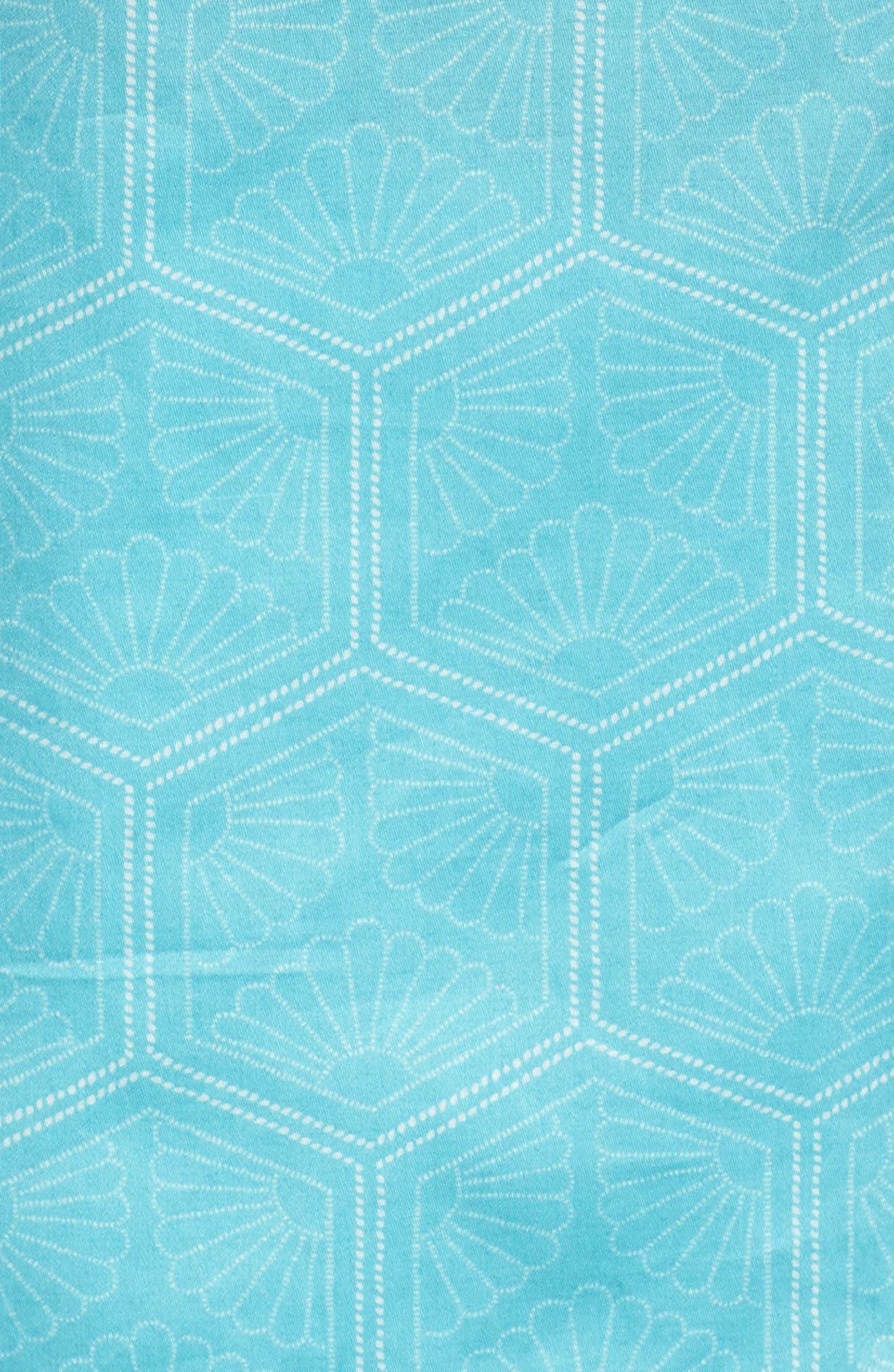 Fan Print Cotton Pajamas,                             Alternate thumbnail 5, color,                             440