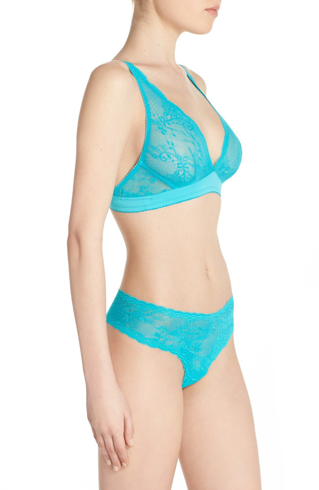 'Trenta' Low Rise Lace Thong,                             Alternate thumbnail 59, color,