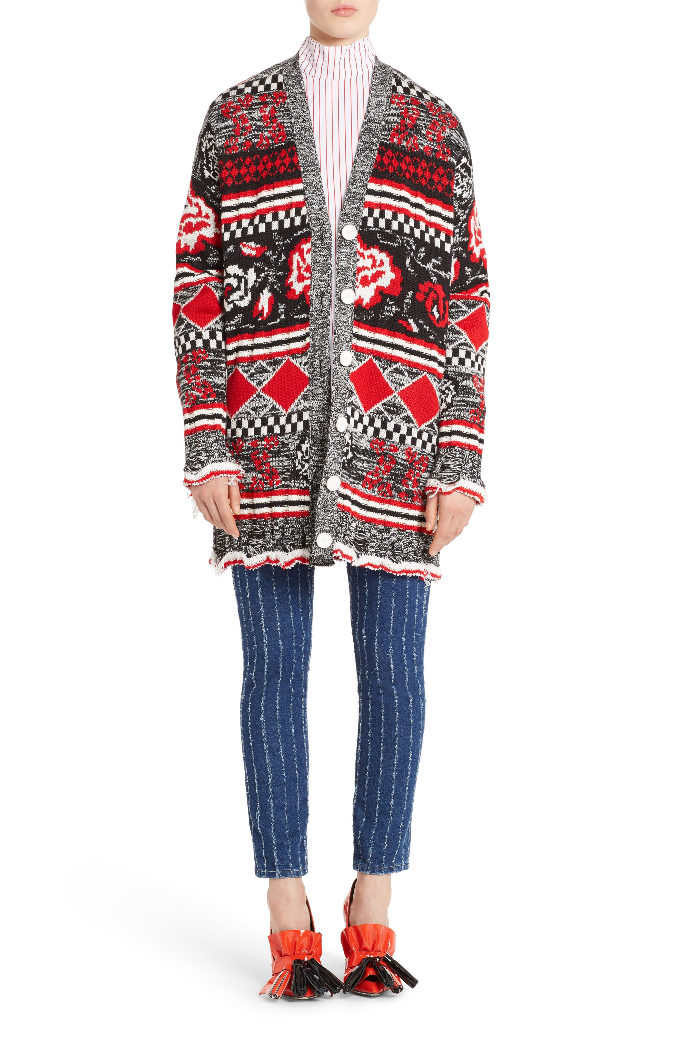 Stripe High Waist Jeans,                             Alternate thumbnail 6, color,                             400