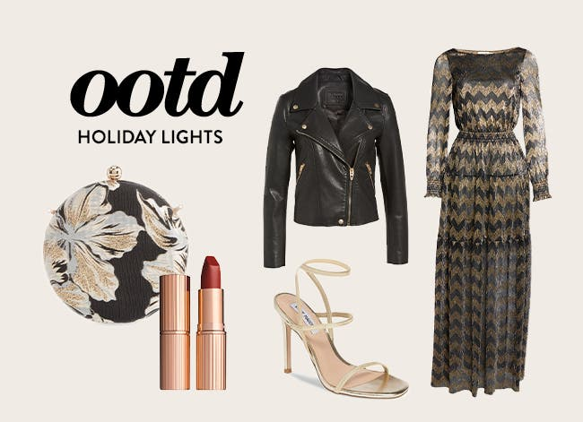 Outfit of the day: holiday lights.