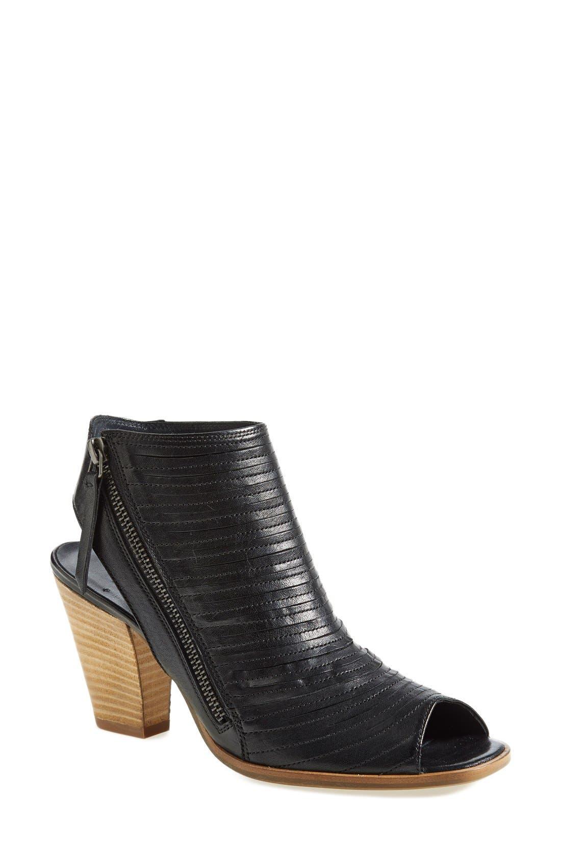 'Cayanne' Leather Peep Toe Sandal,                             Main thumbnail 5, color,