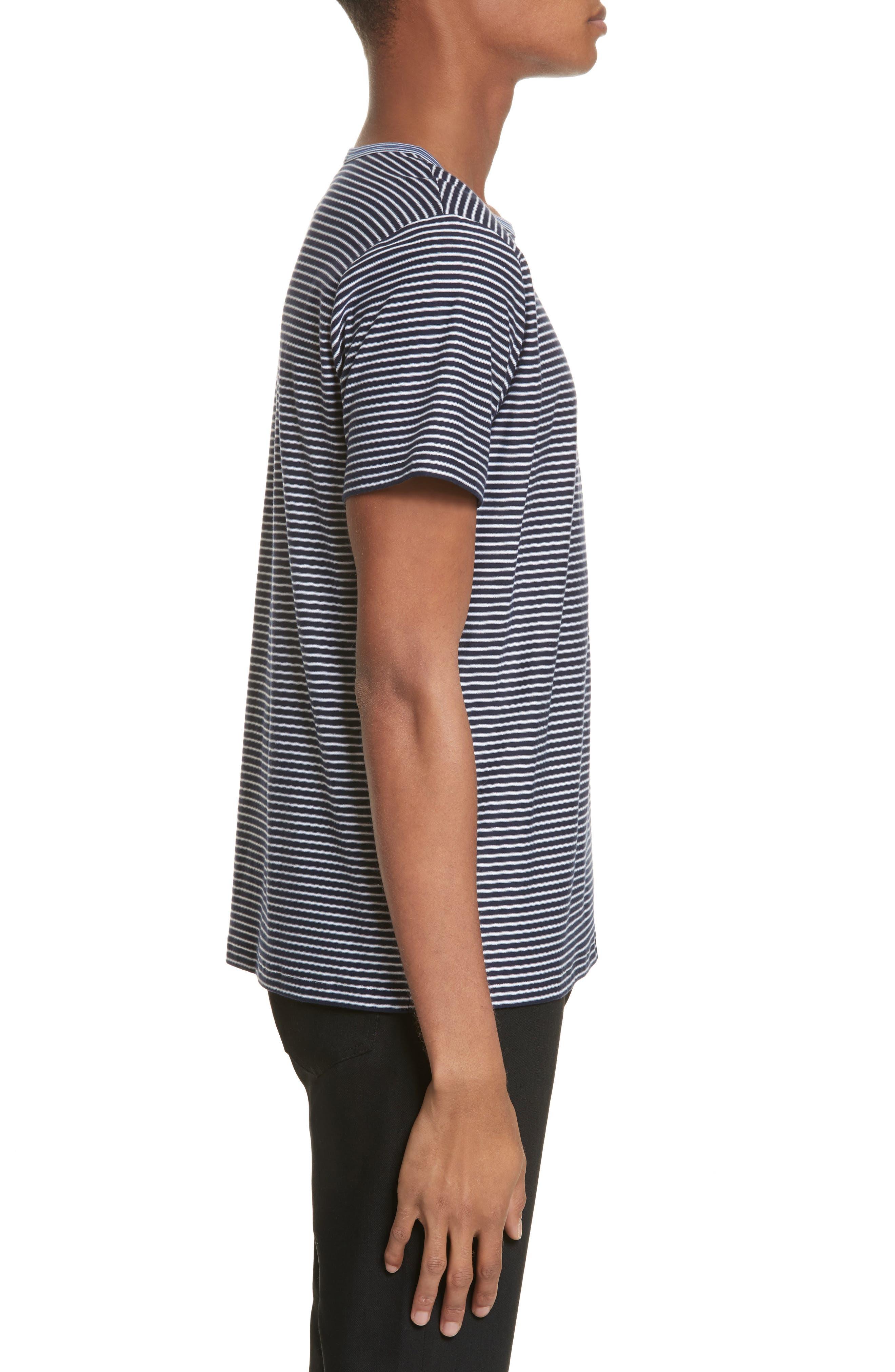 Maui Stripe T-Shirt,                             Alternate thumbnail 3, color,                             410