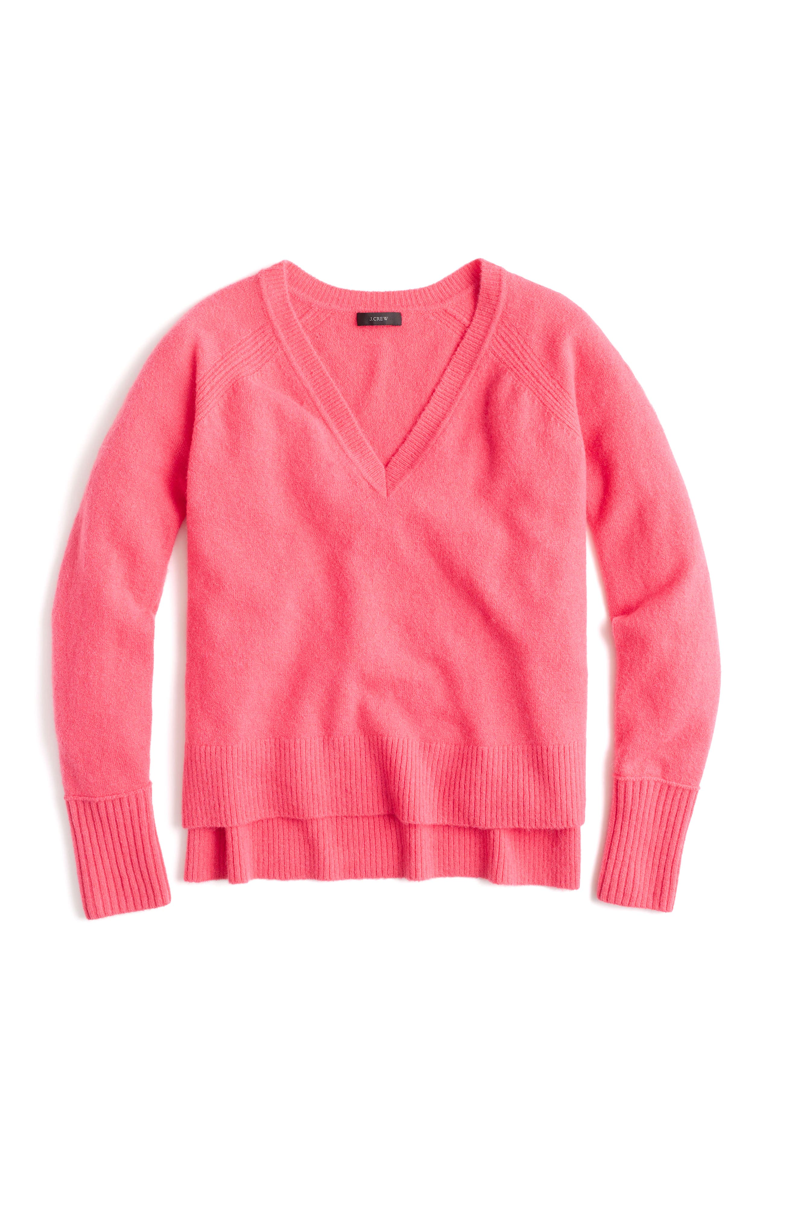 Supersoft Yarn V-Neck Sweater,                             Main thumbnail 1, color,                             605