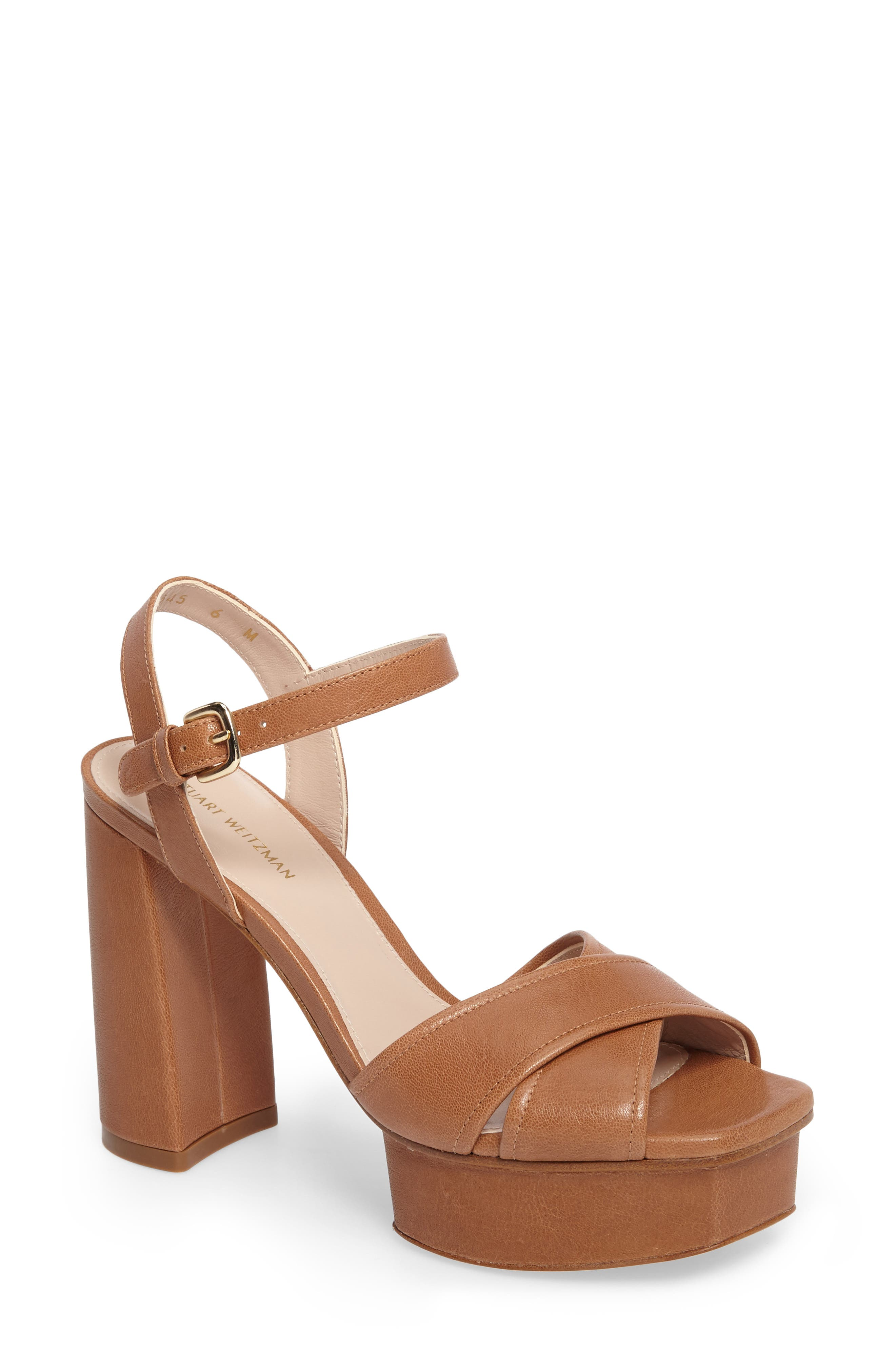 Exposed Platform Sandal,                             Main thumbnail 4, color,