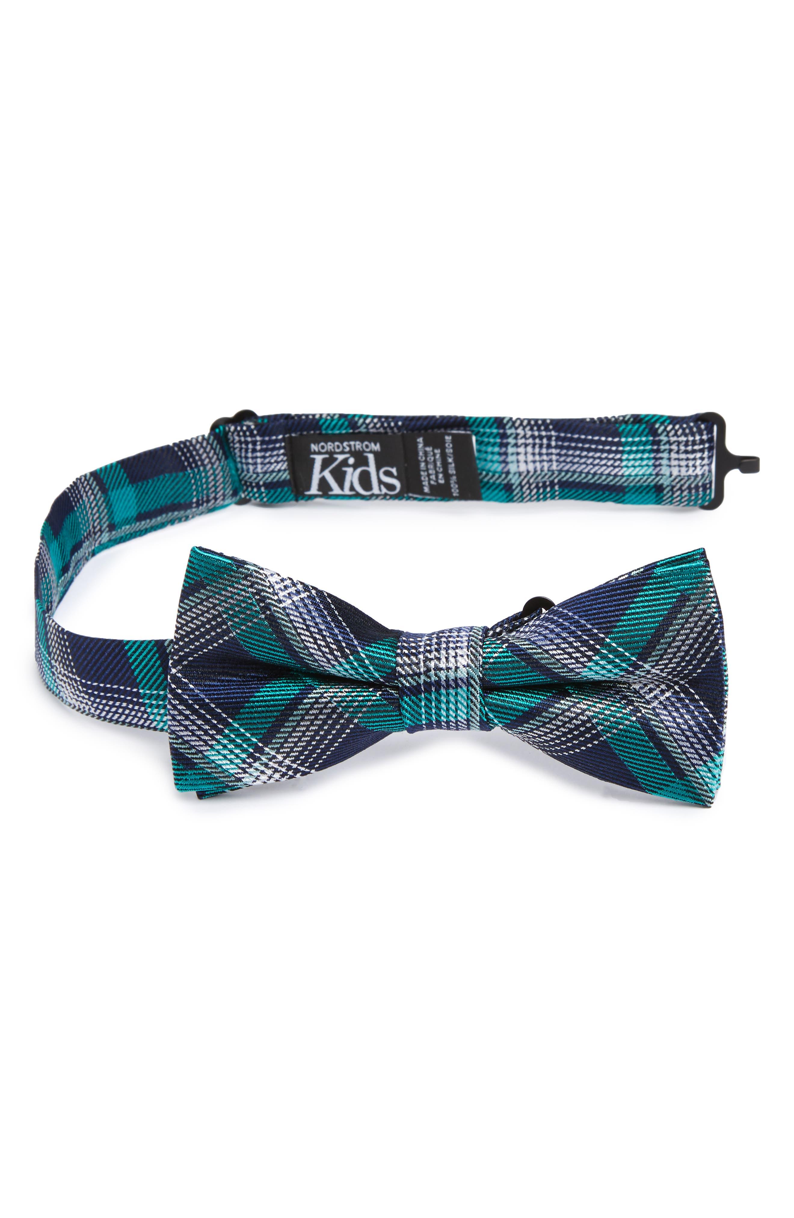 Plaid Silk Bow Tie,                             Main thumbnail 3, color,